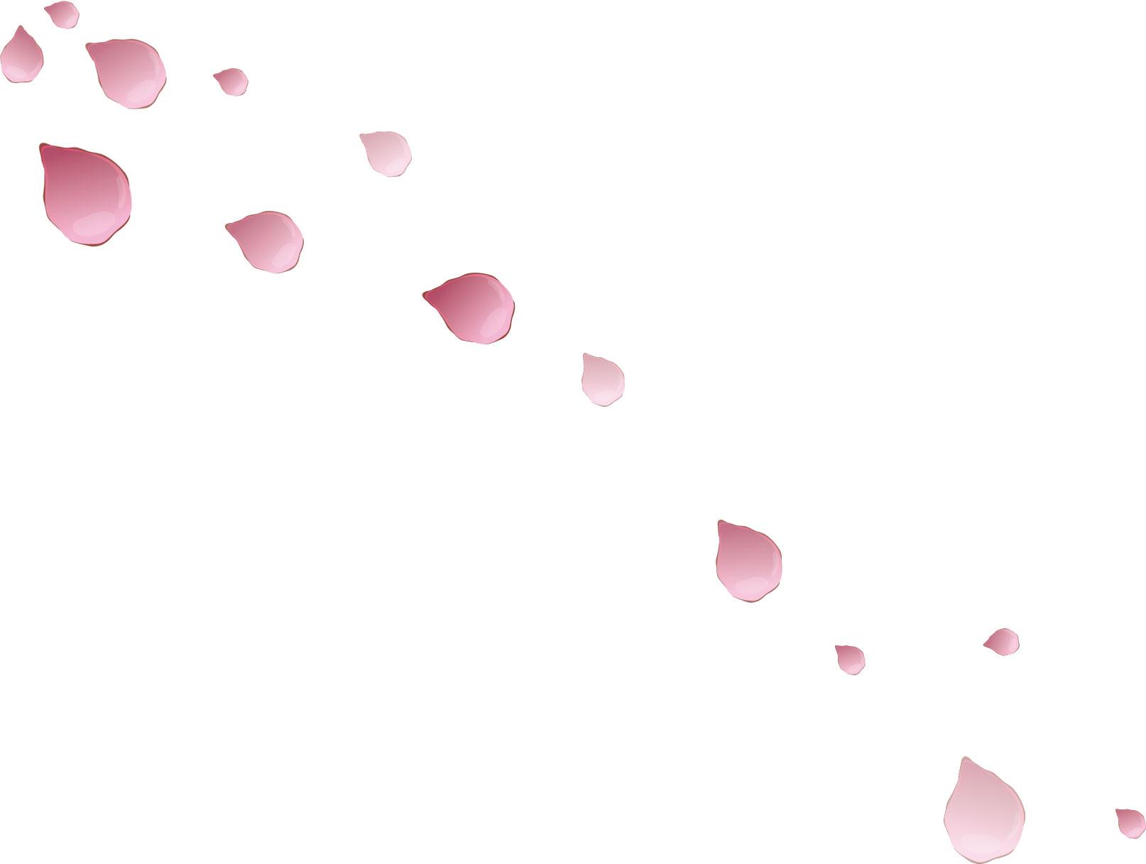 バラのイラスト画像no145舞い散るバラの花びら無料のフリー素材