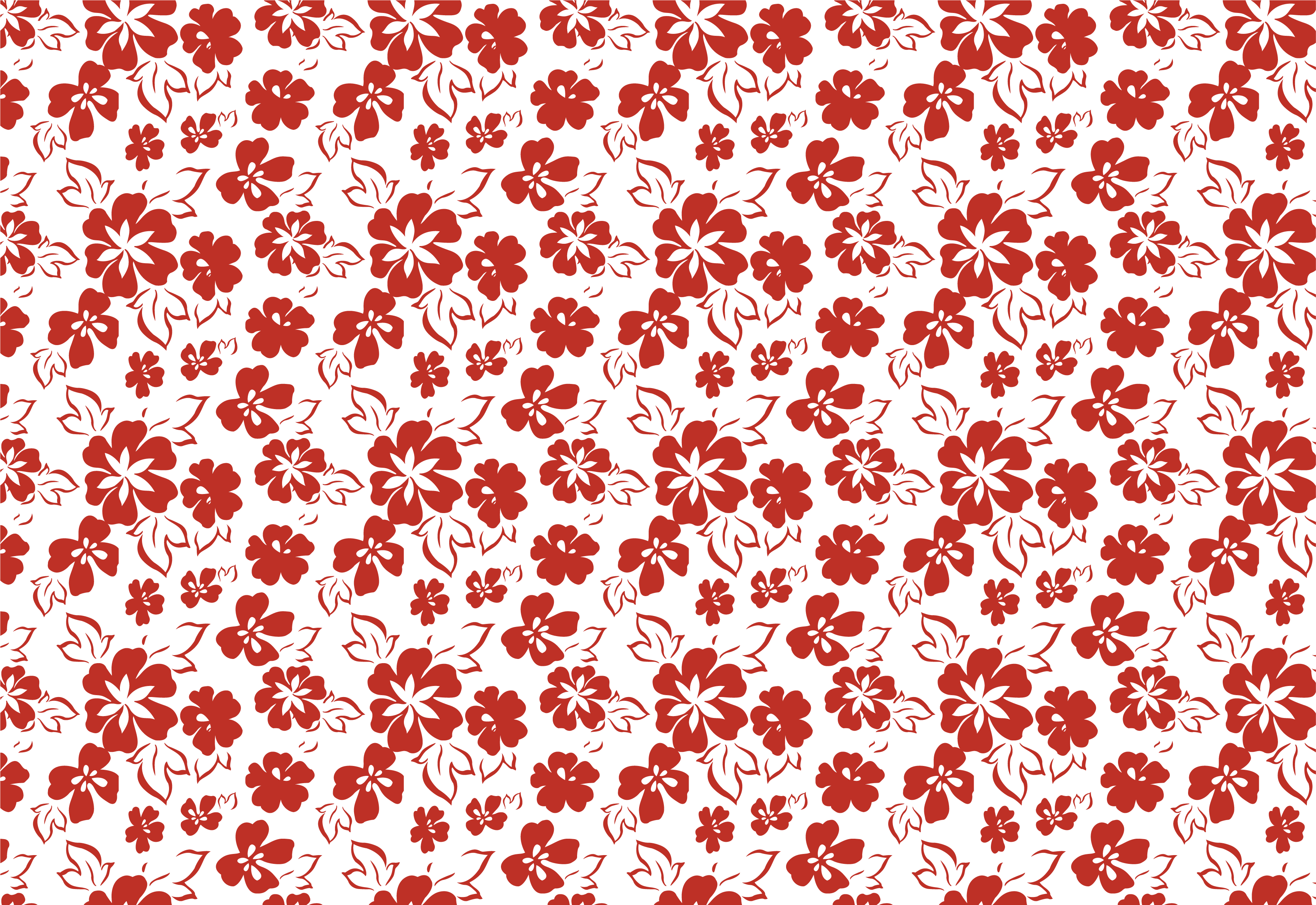 壁紙 背景イラスト 花の模様 柄 パターン No 005 赤白 葉