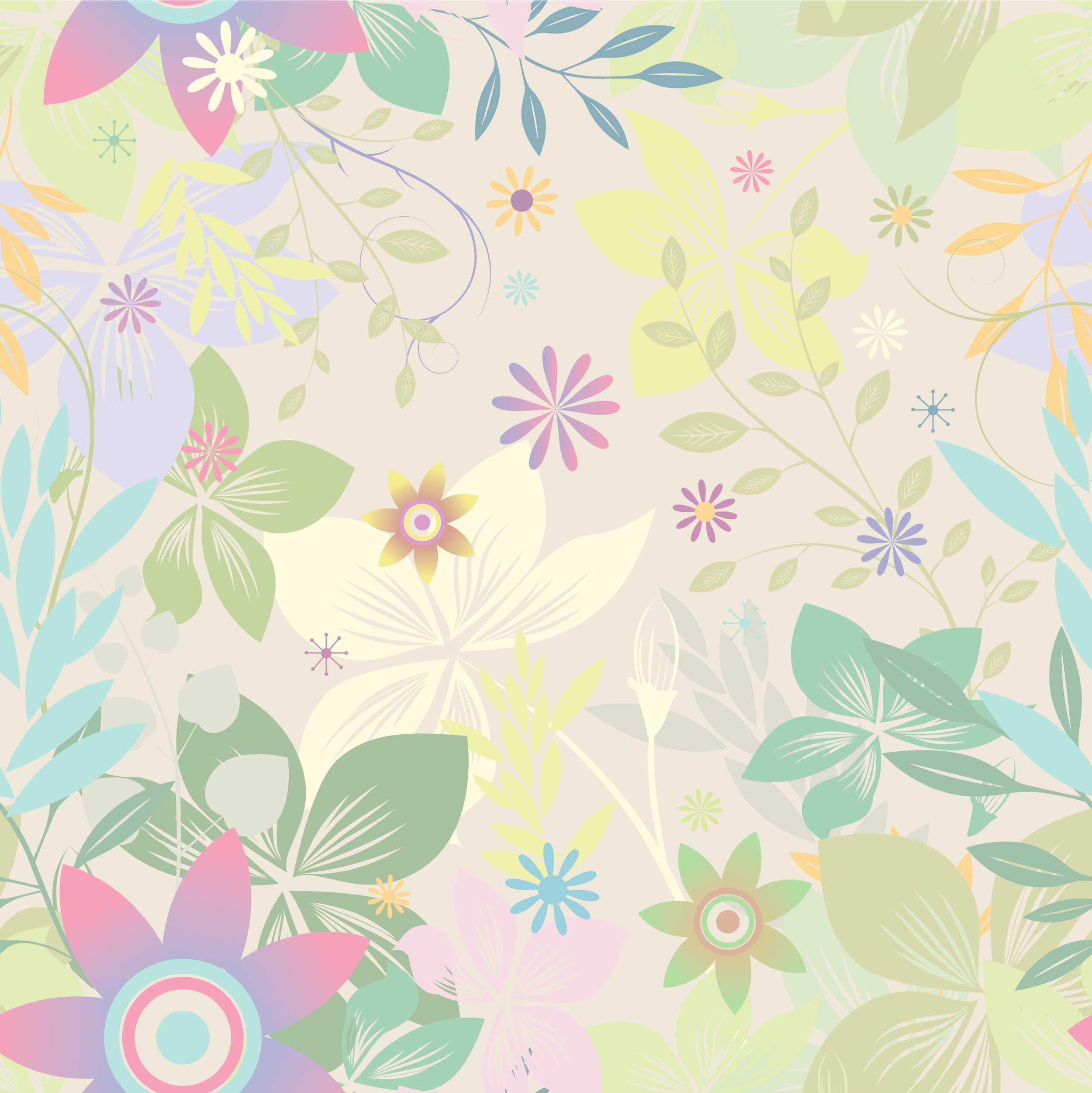 カラフルなのイラストフリー素材背景壁紙no530カラフル枝葉