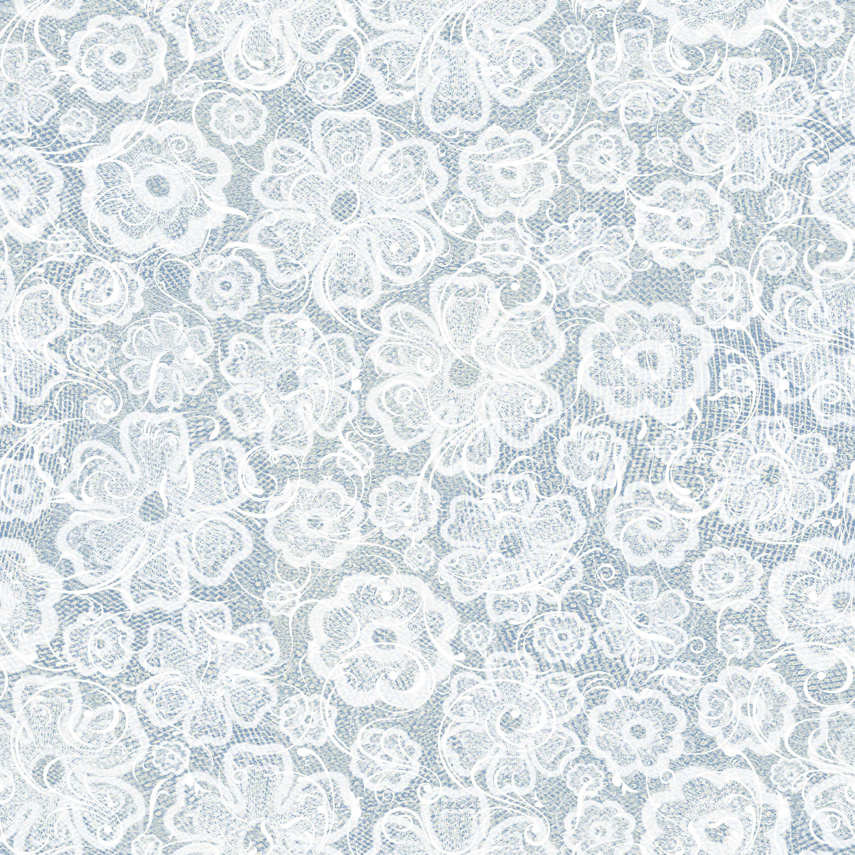 壁紙・背景イラスト/花の模様・柄・パターン no.054『青・レース生地』