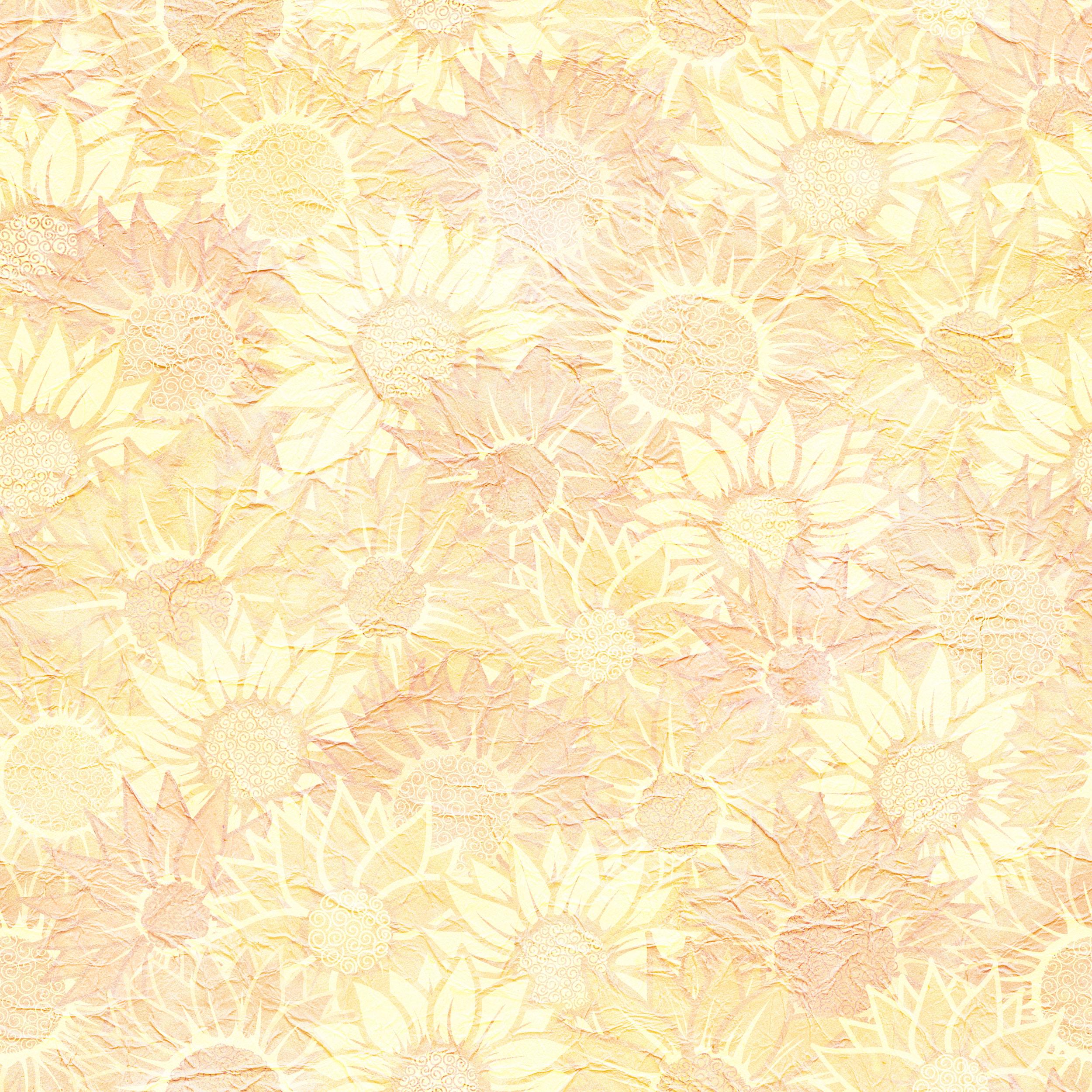 壁紙 背景イラスト 花の模様 柄 パターン No 381 ひまわり テクスチャ