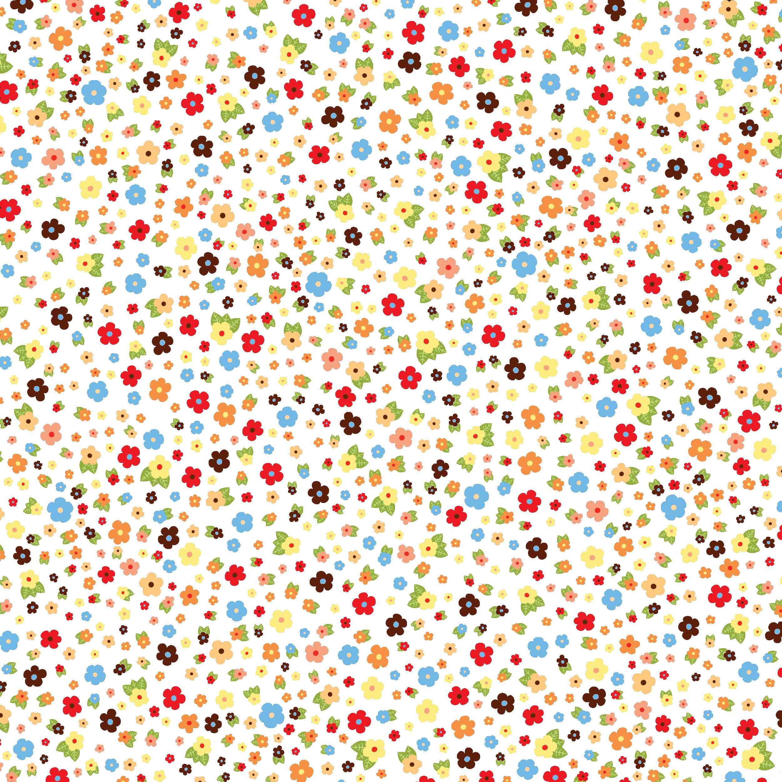 壁紙・背景イラスト『花の模様・柄・パターン』/無料のフリー素材集