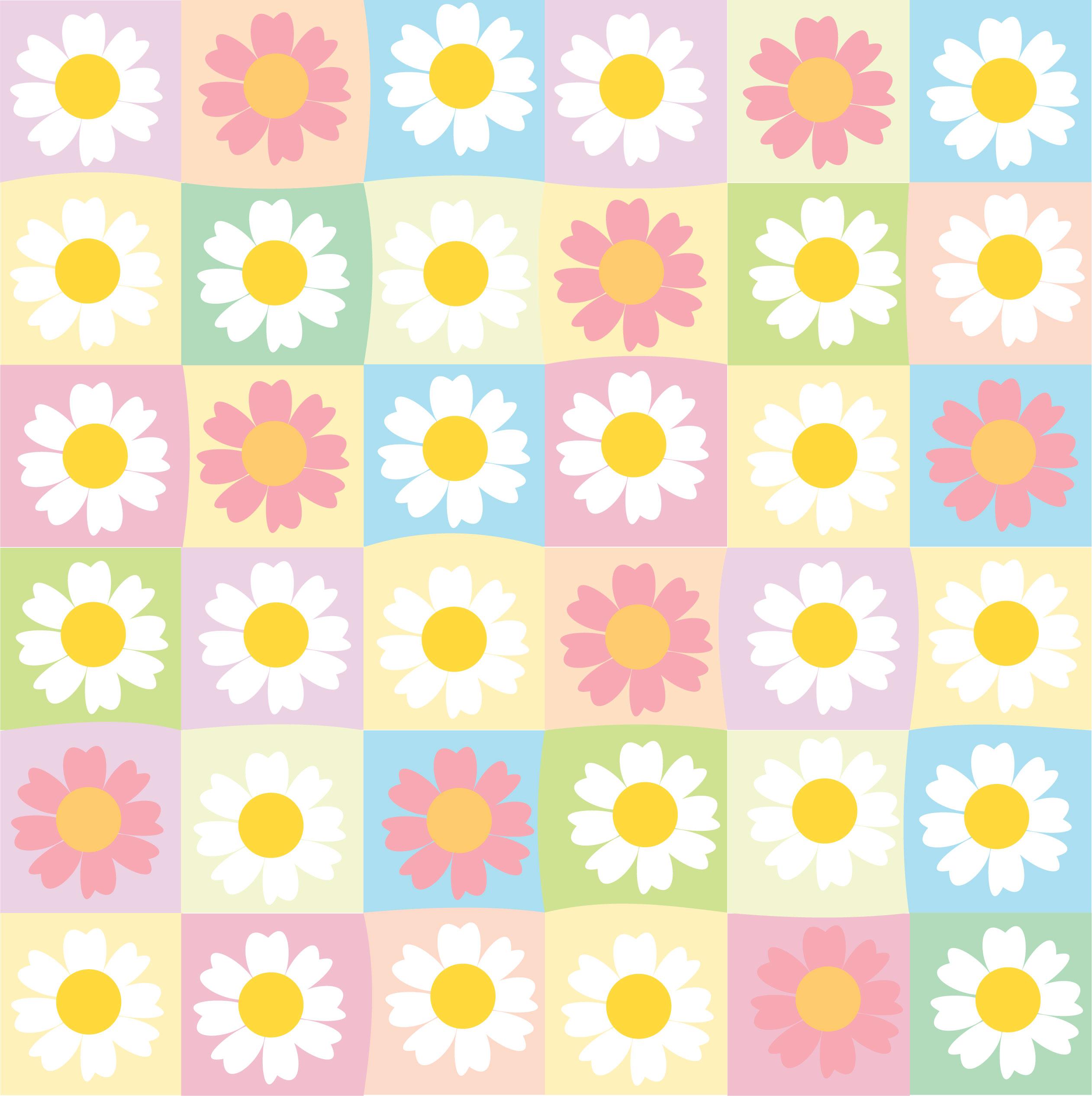 白い花のイラスト『背景・壁紙用』/無料のフリー素材集【百花繚乱】