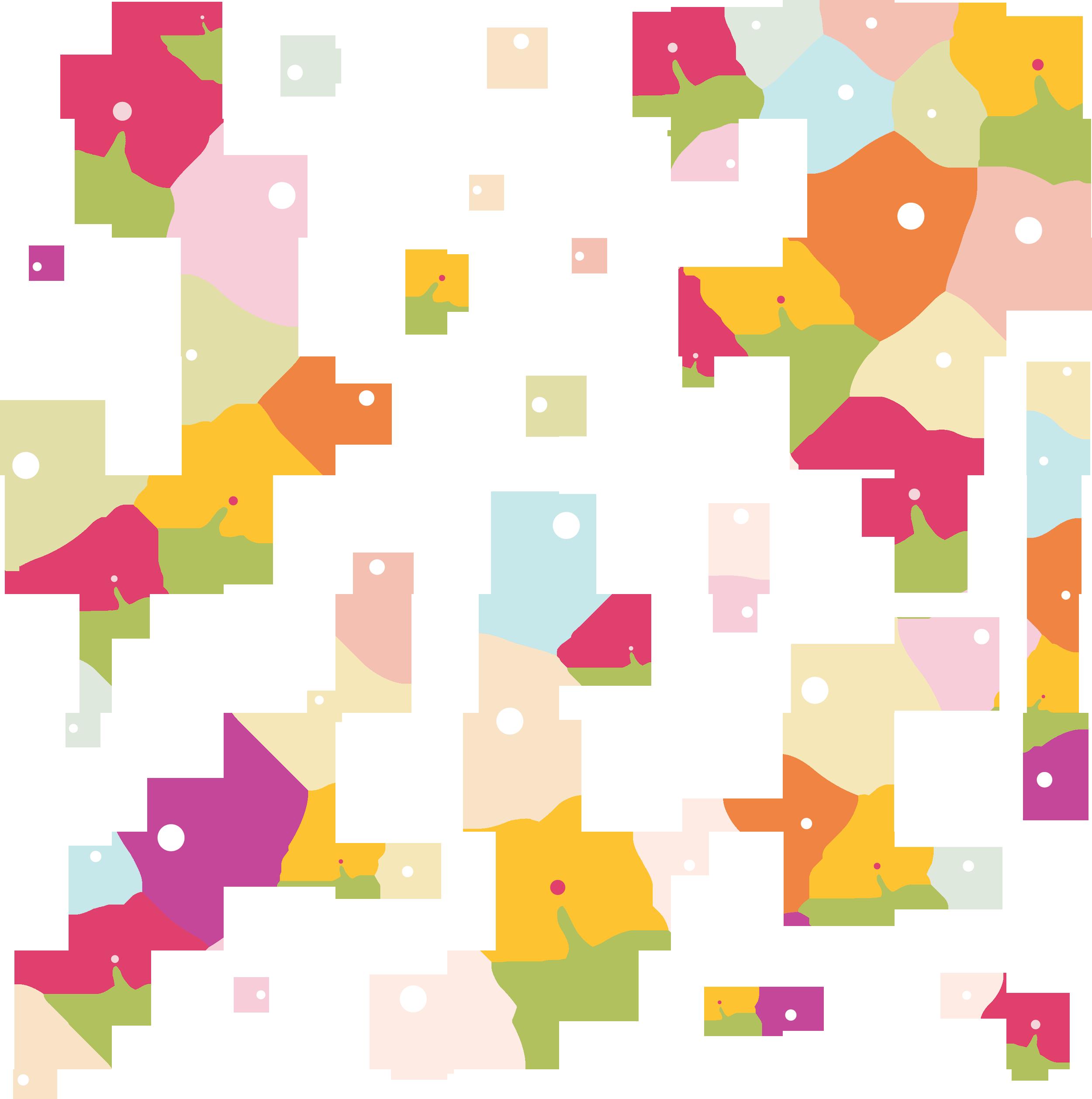 壁紙・背景イラスト/花の模様・柄・パターン no.102『ポップ・カラフル