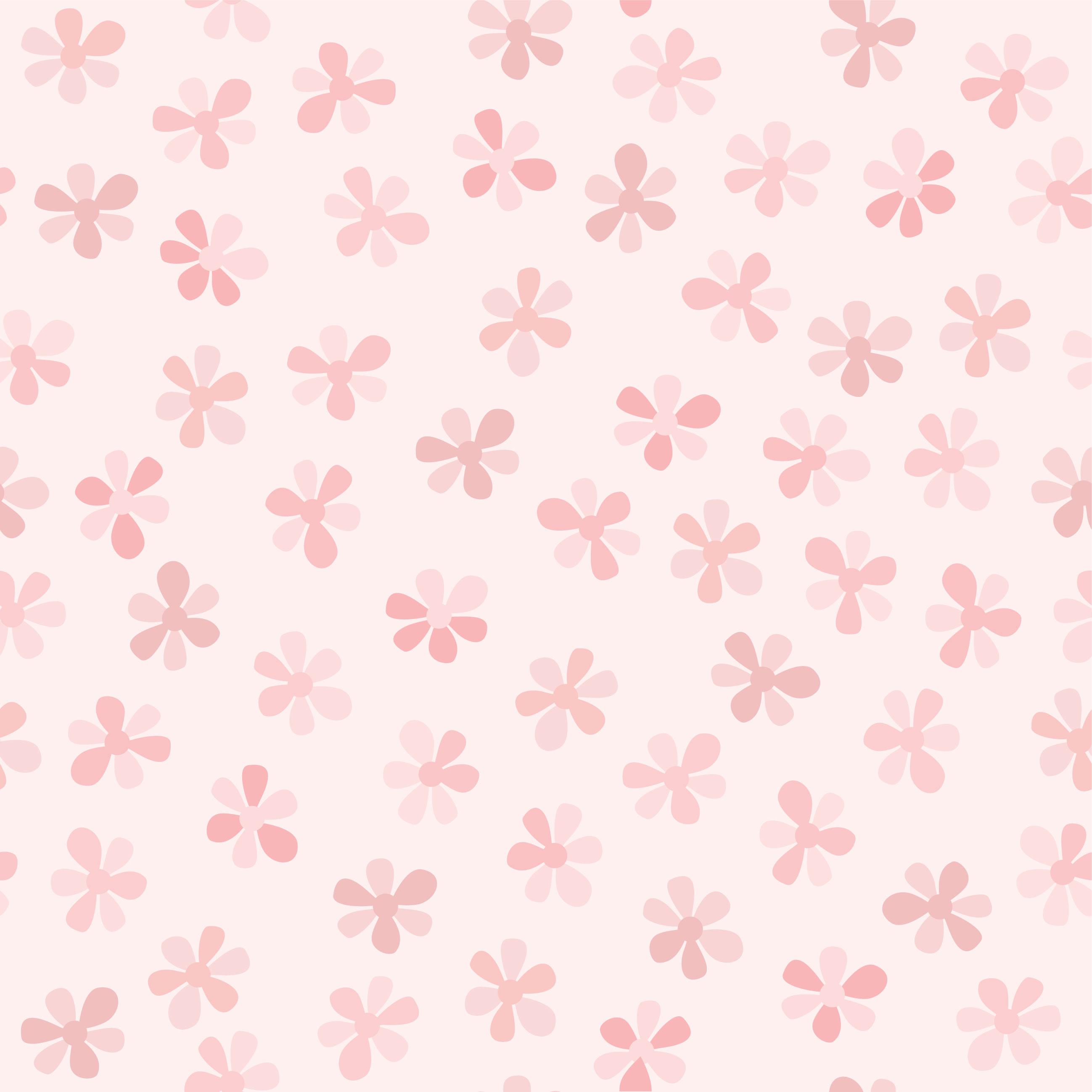 壁紙・背景イラスト/花の模様・柄・パターン no.109『ピンク・たくさん』