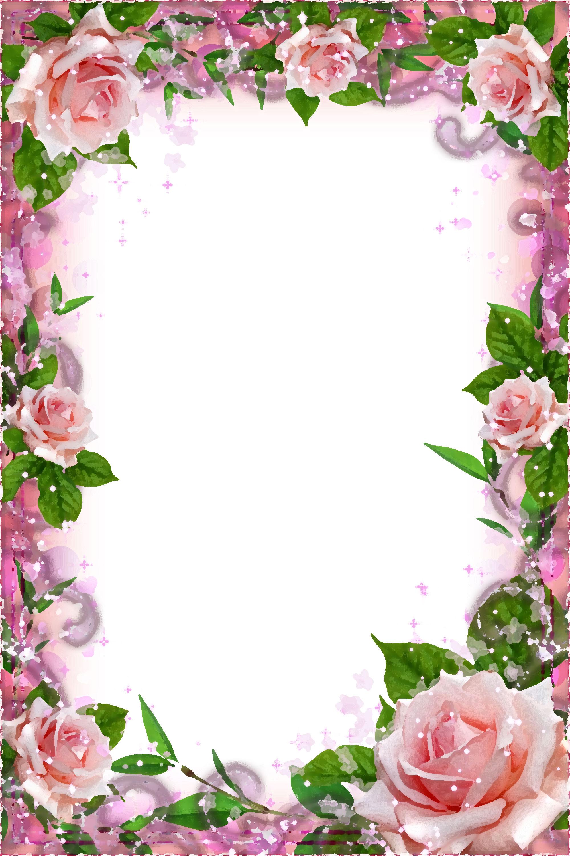 Красивая рамка для поздравления в открытку, цветами