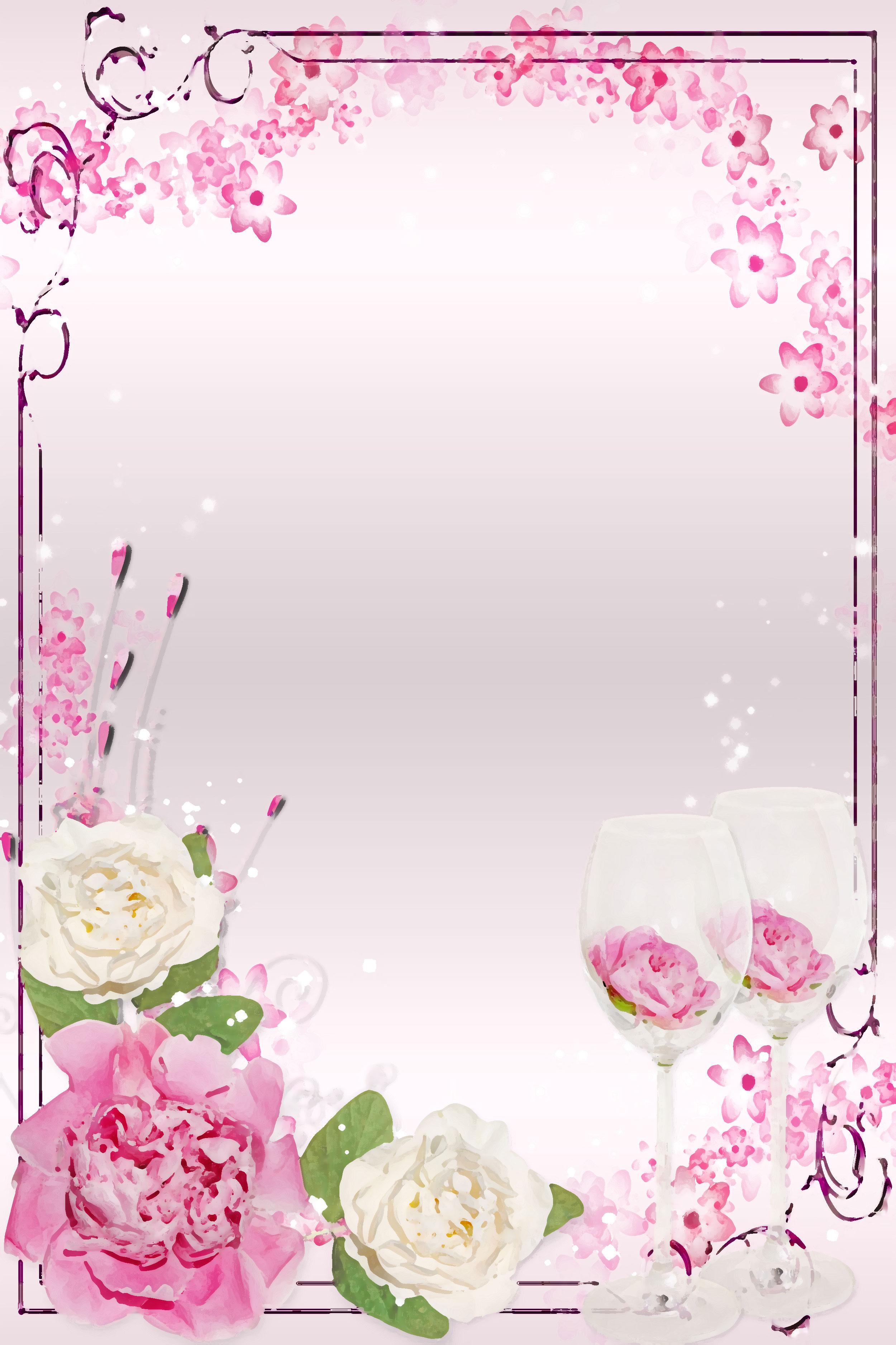 バラの画像 イラスト 壁紙 背景用 No 618 白 ピンク バラ