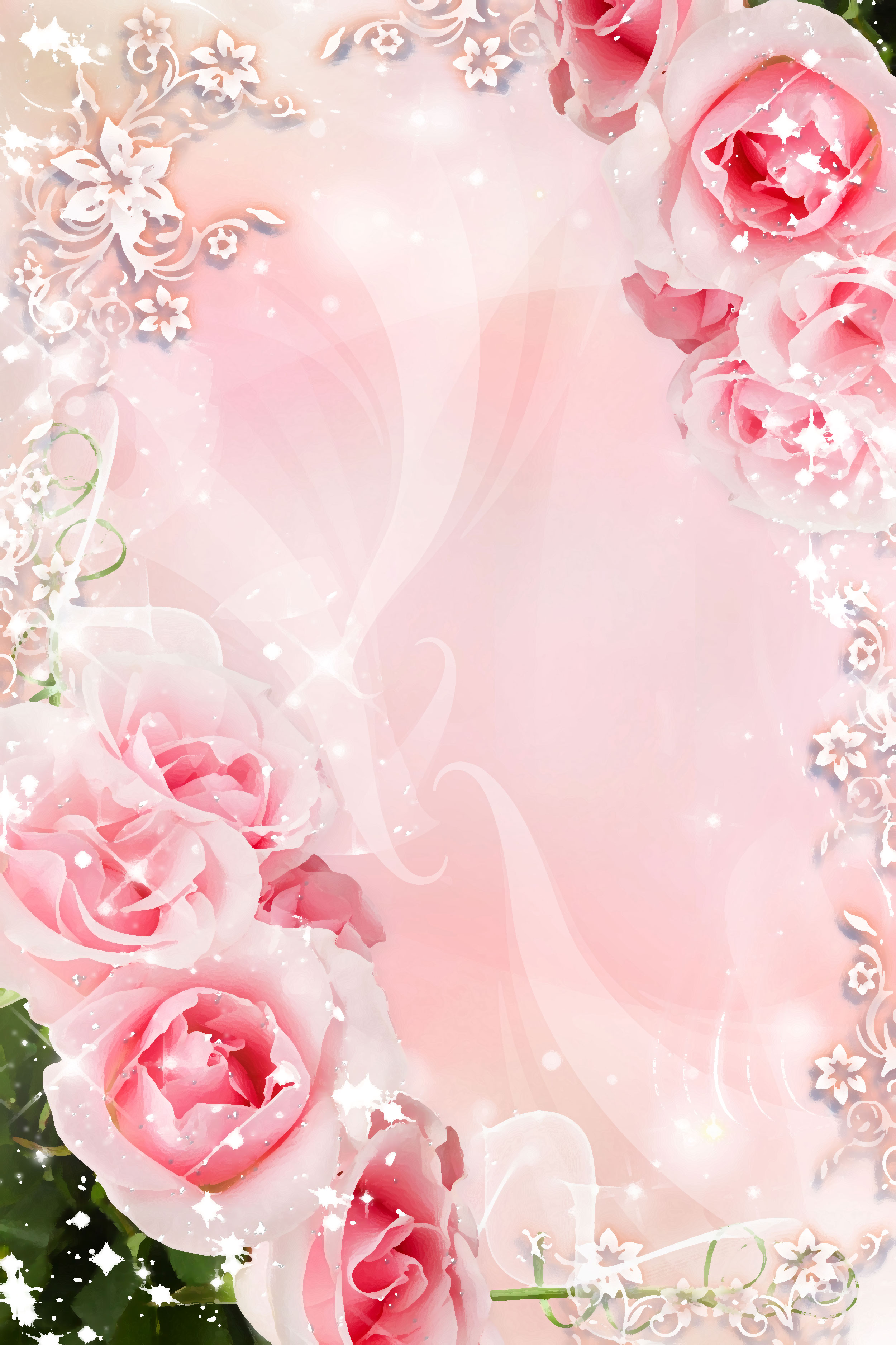 バラの画像 イラスト 壁紙 背景用 No 620 ピンク バラ