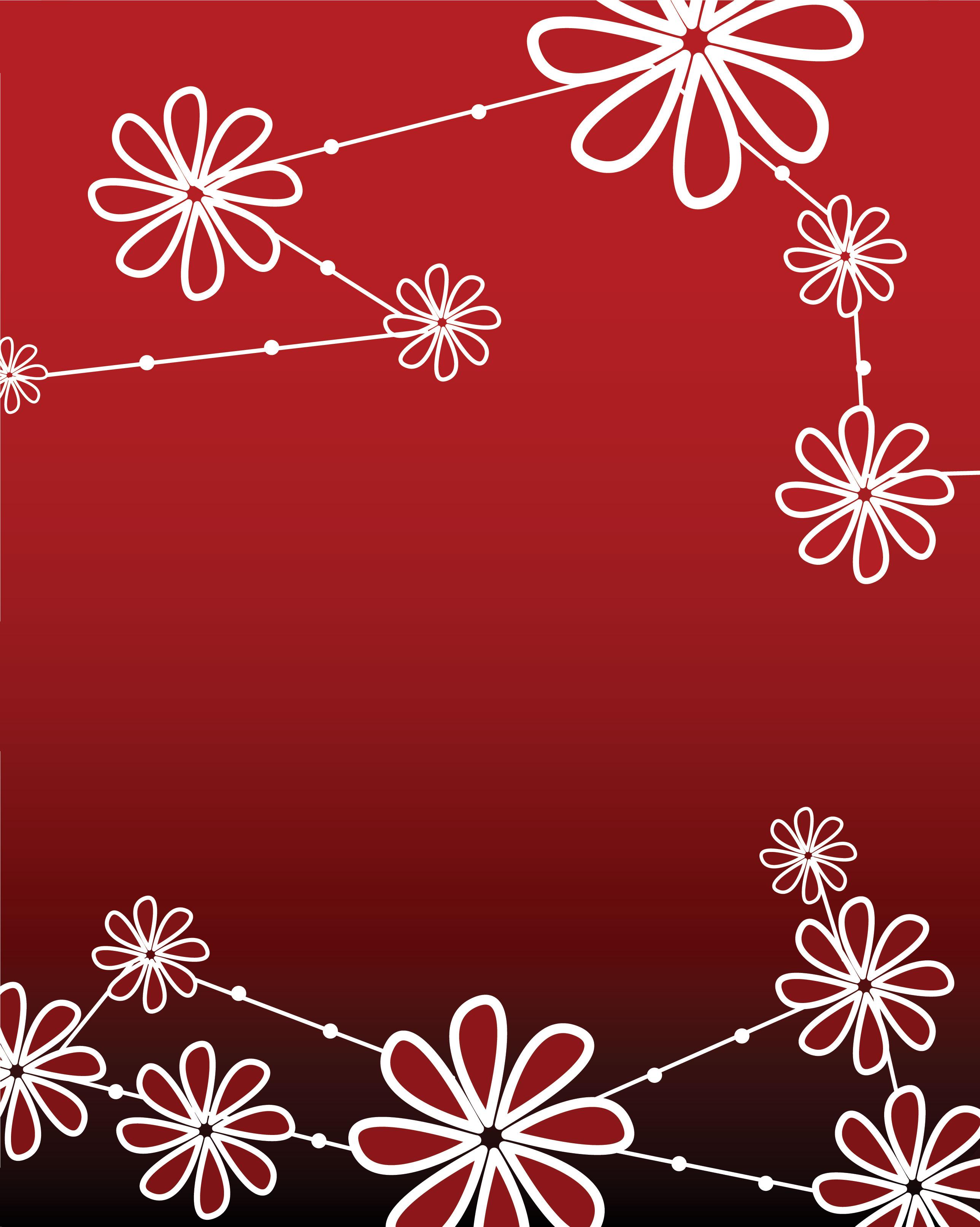 花のイラスト フリー素材 壁紙 背景no 490 赤 黒グラデーション