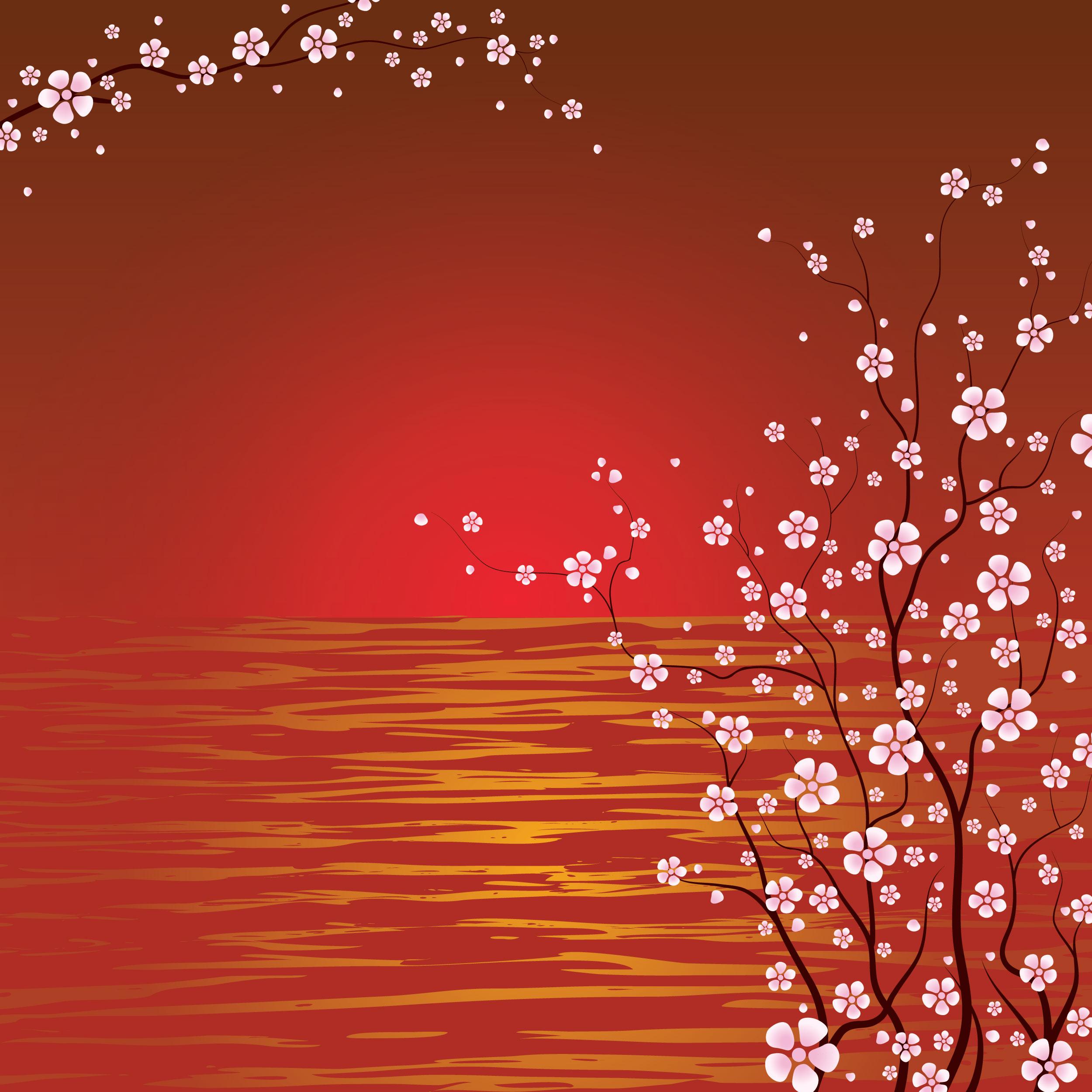 花のイラスト『壁紙・背景4』/無料のフリー素材集【百花繚乱】