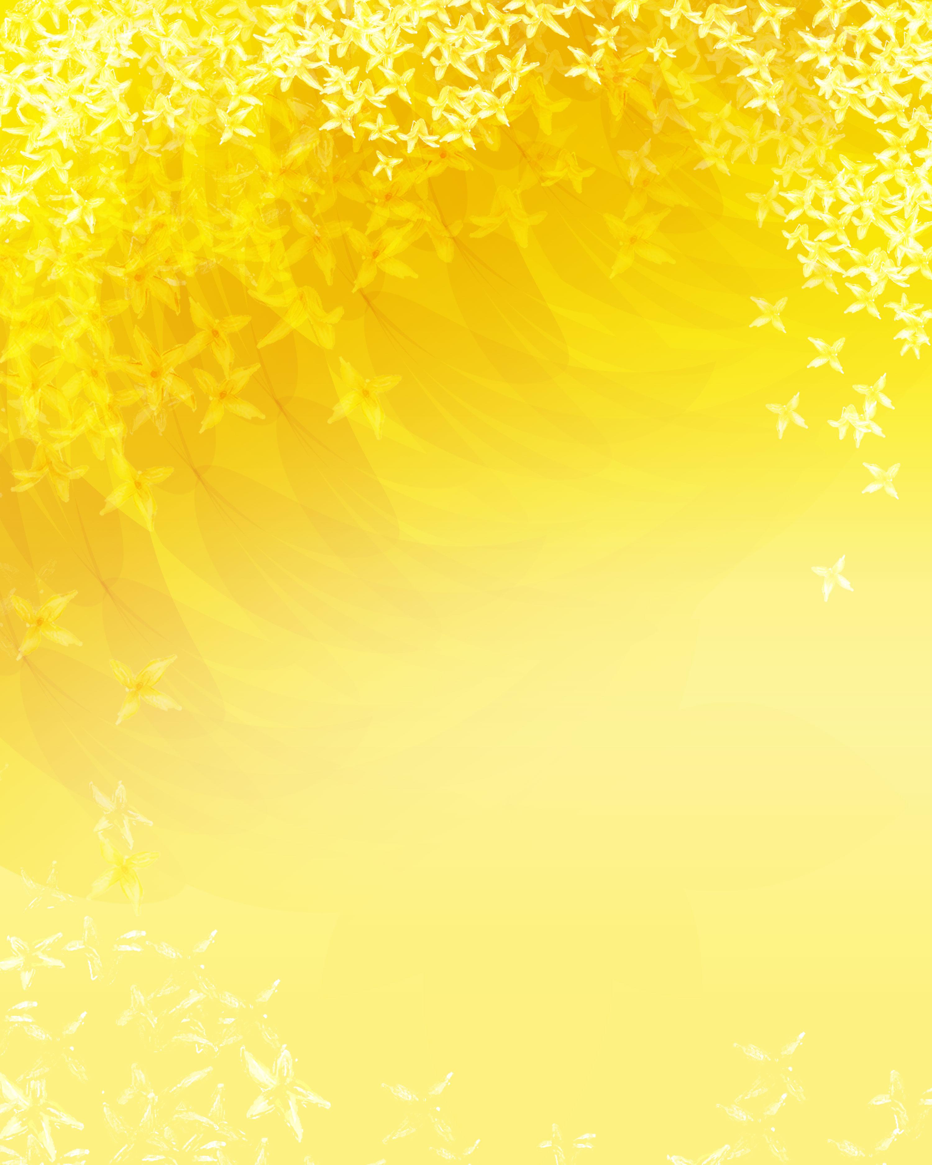 黄色の花のイラスト フリー素材 背景 壁紙no 292 たくさんの花 黄