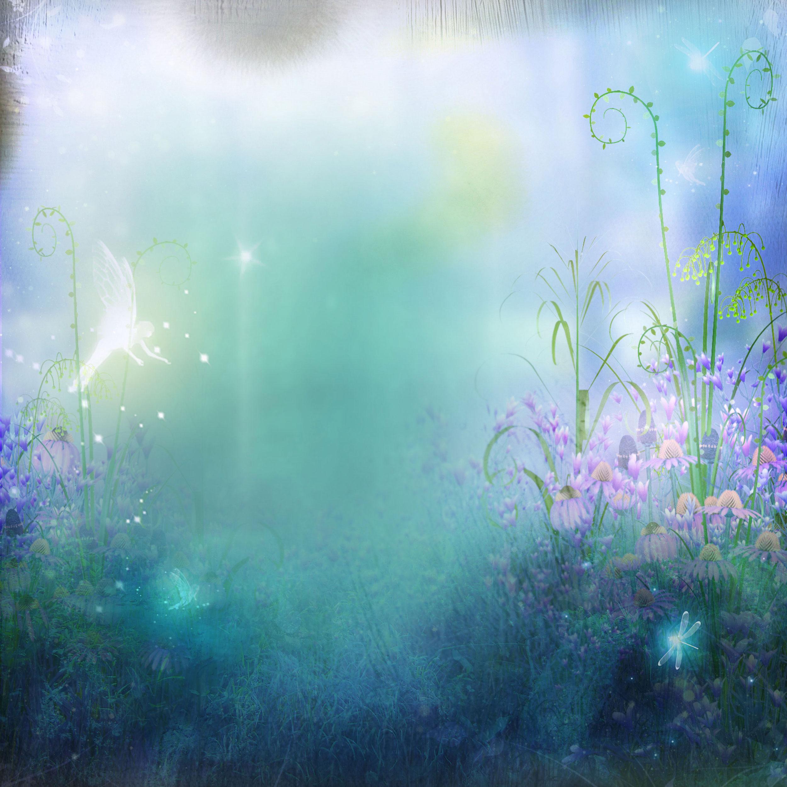 花のイラスト フリー素材 壁紙 背景no 217 幻想的 妖精 淡い