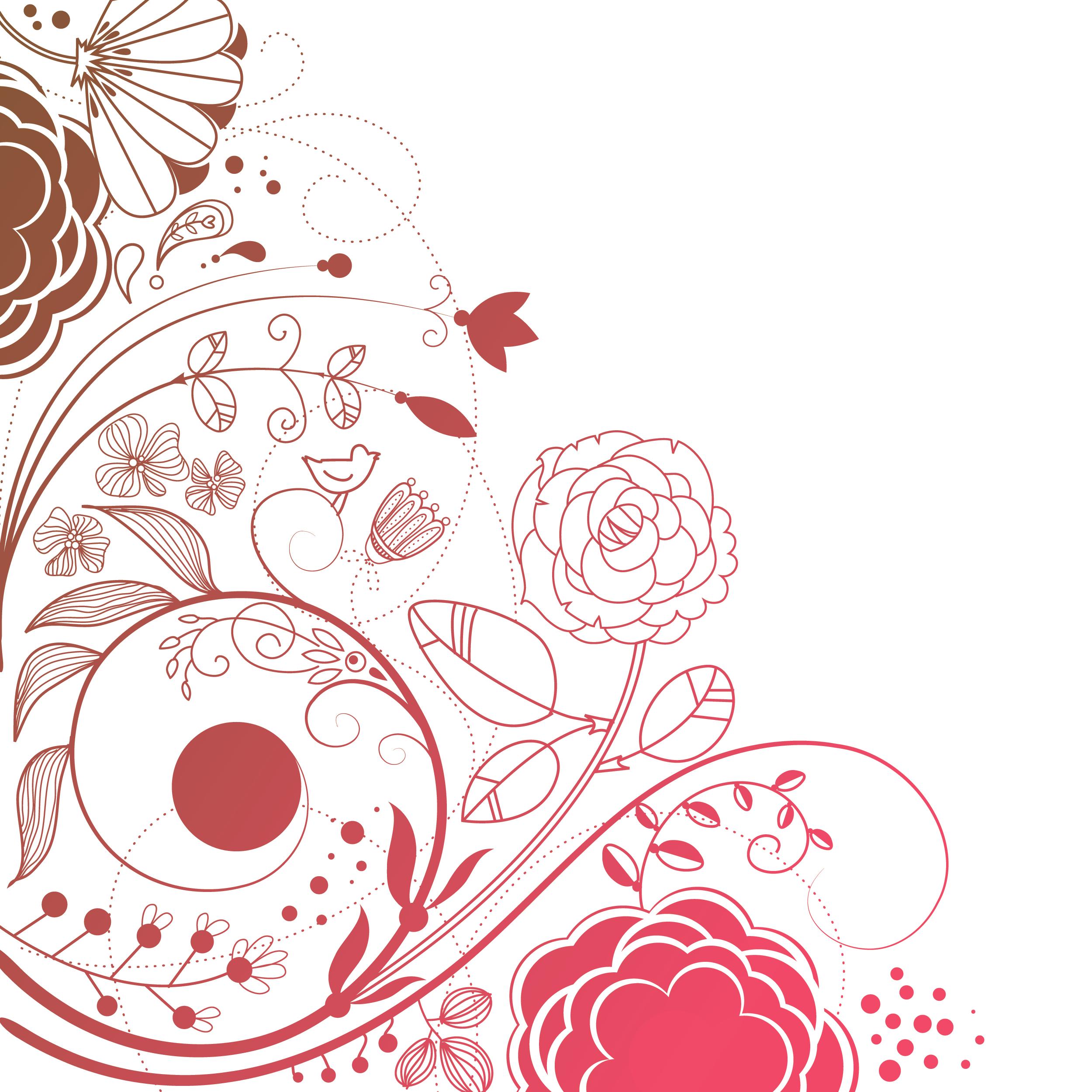 花のイラスト・フリー素材/壁紙・背景no.141『ポップアート・透過色』