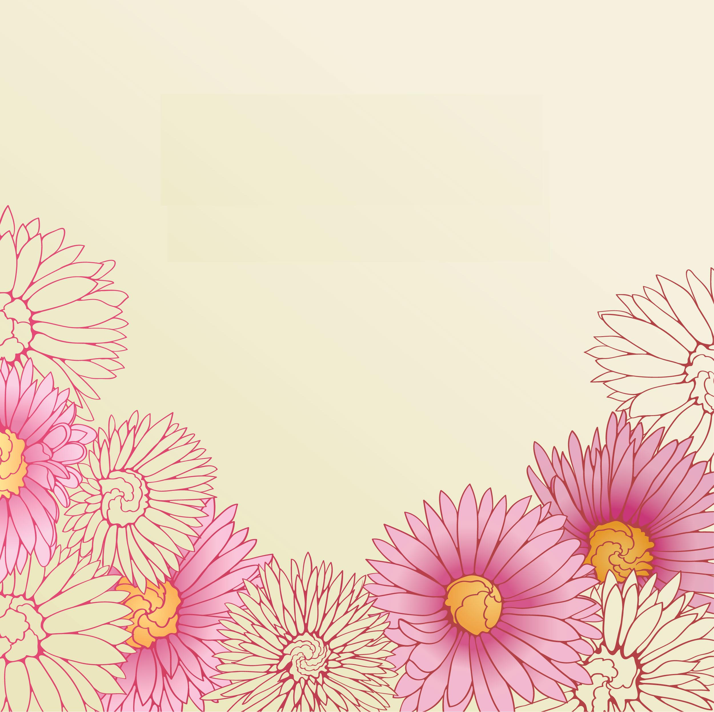 ガーベラ デージーのイラスト 画像no 44 壁紙 ガーベラ デイジー
