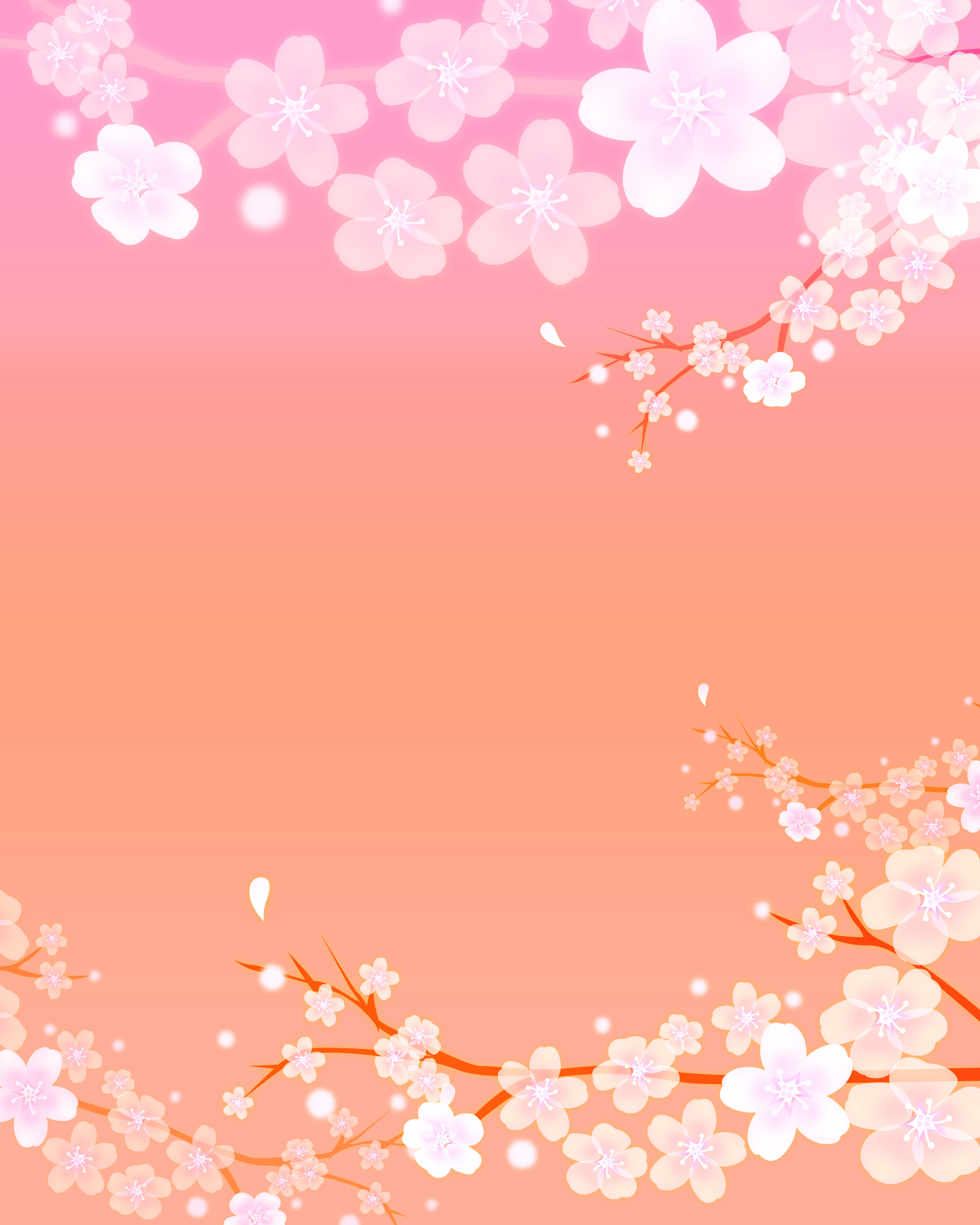 桜(さくら)の画像・イラスト・フリー素材/no.052『桜壁紙・ピンク・枝