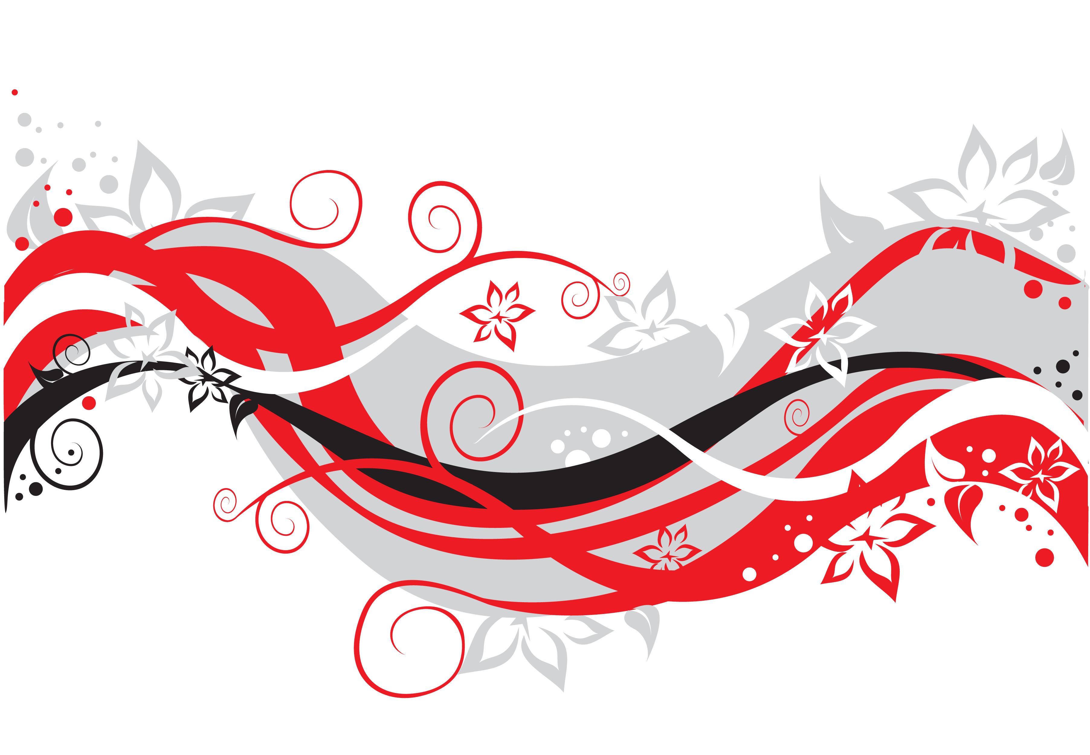 花のイラスト フリー素材 壁紙 背景no 779 カラフルライン 赤白黒