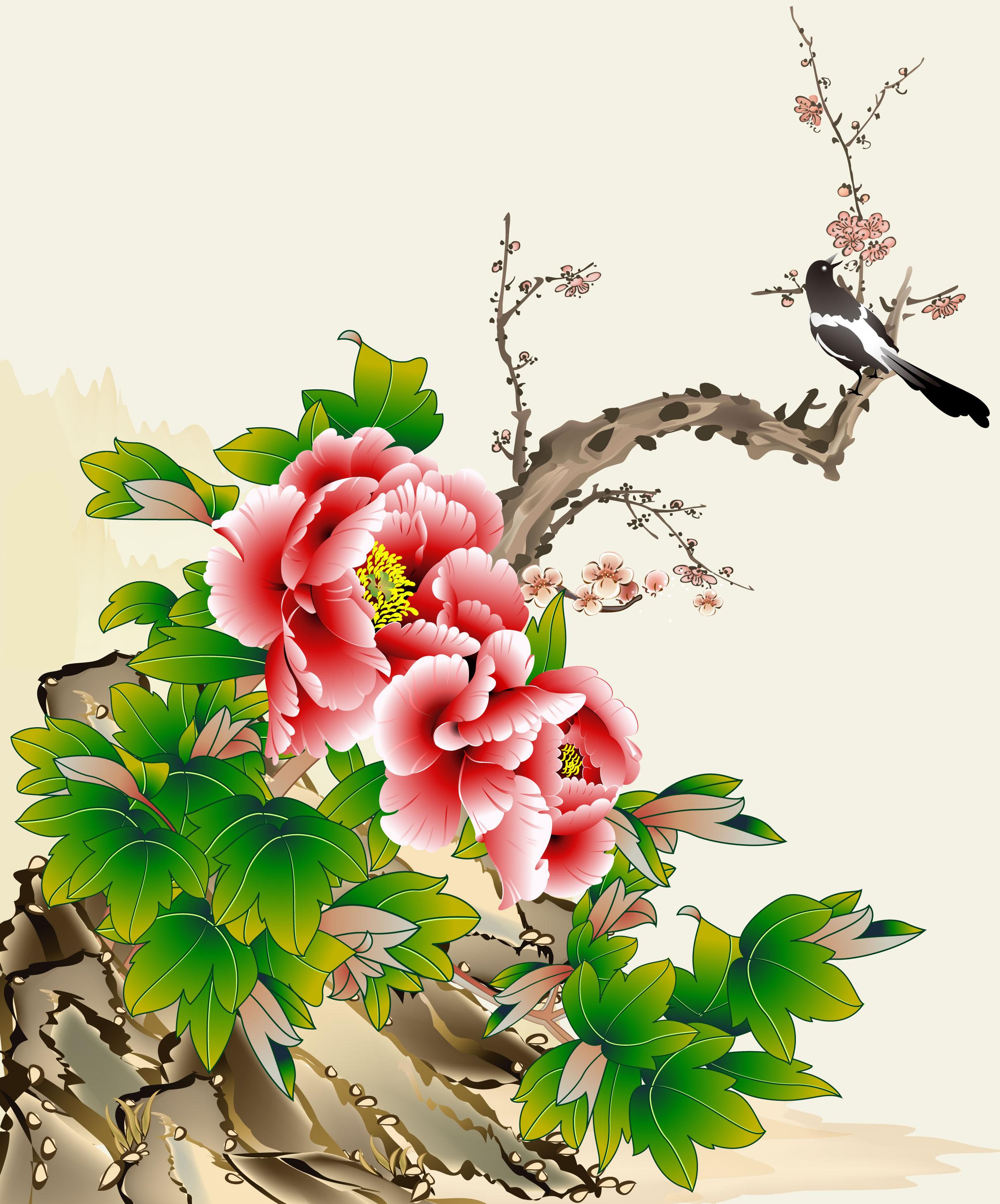 つばき椿のイラスト画像no15壁紙ツバキ和風無料のフリー