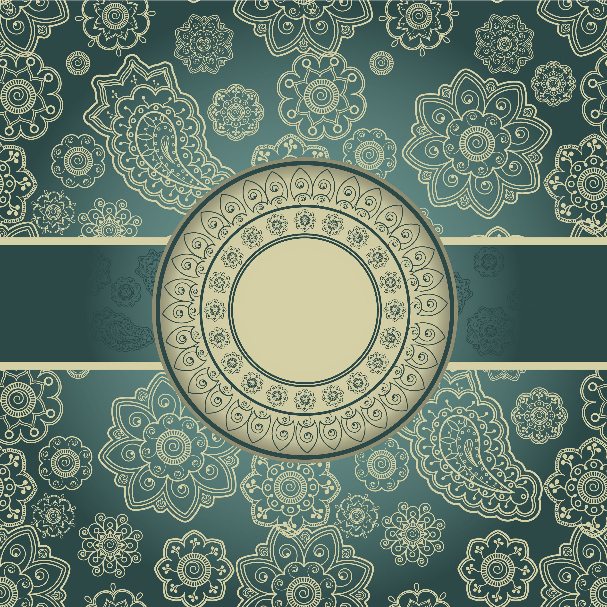teal blue and gold wallpaper
