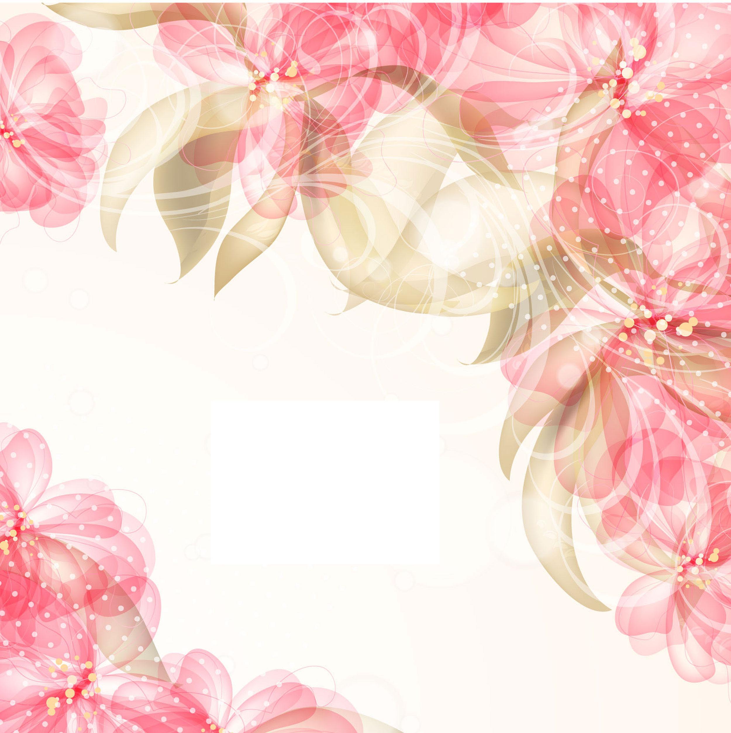 ピンクの花のイラスト フリー素材 壁紙 背景no 704 ピンク 曲線
