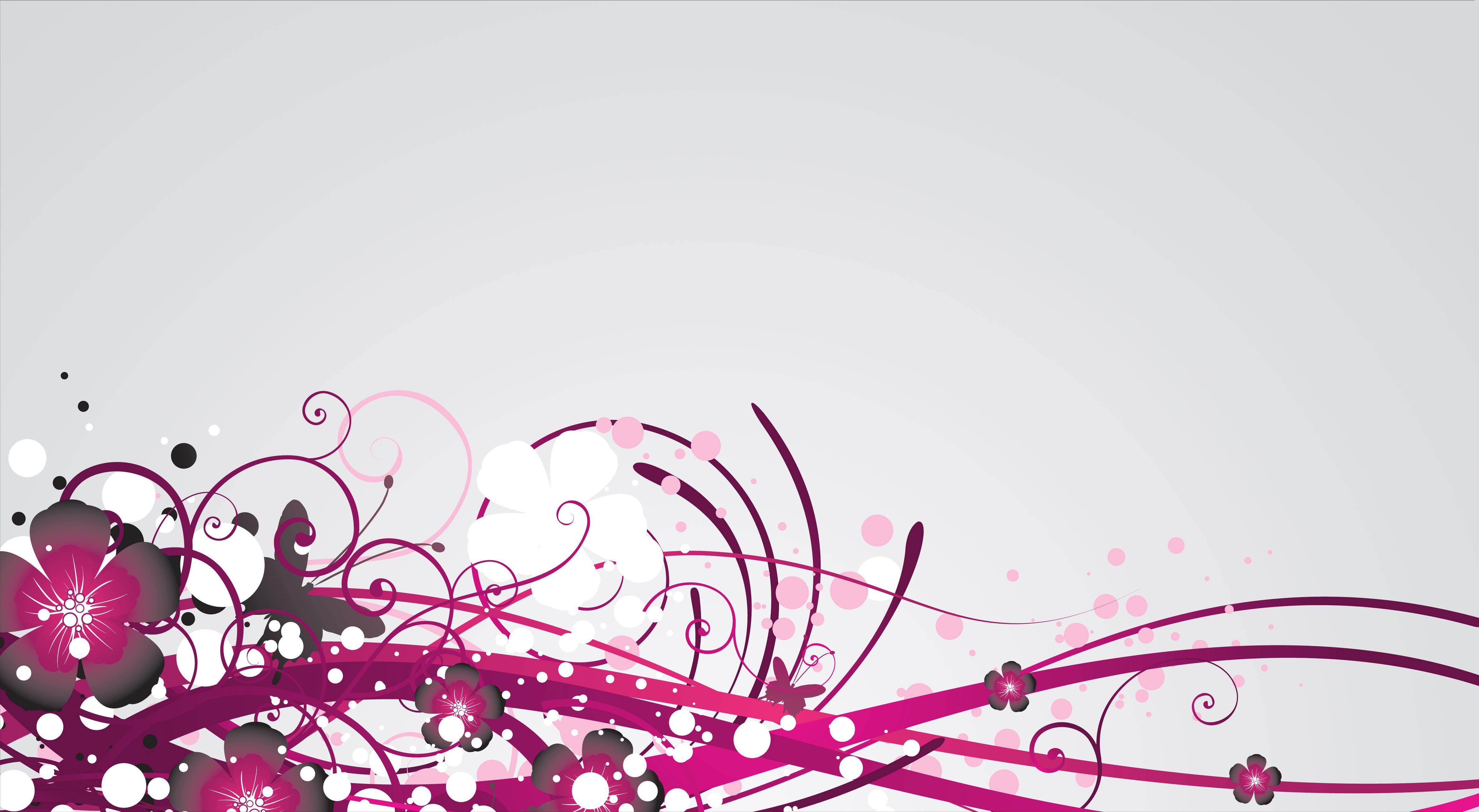 紫色の花のイラスト フリー素材 背景 壁紙no 504 赤紫 茎ライン 粒