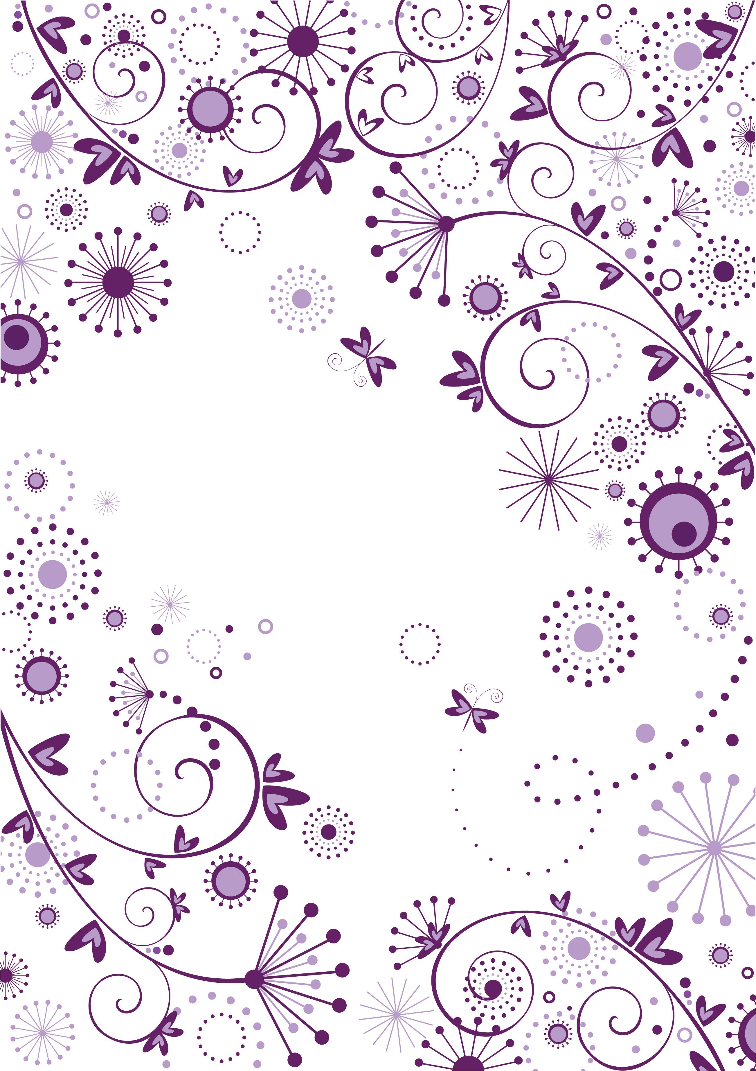 花のイラスト フリー素材 壁紙 背景no 843 群青色 ハート ドット