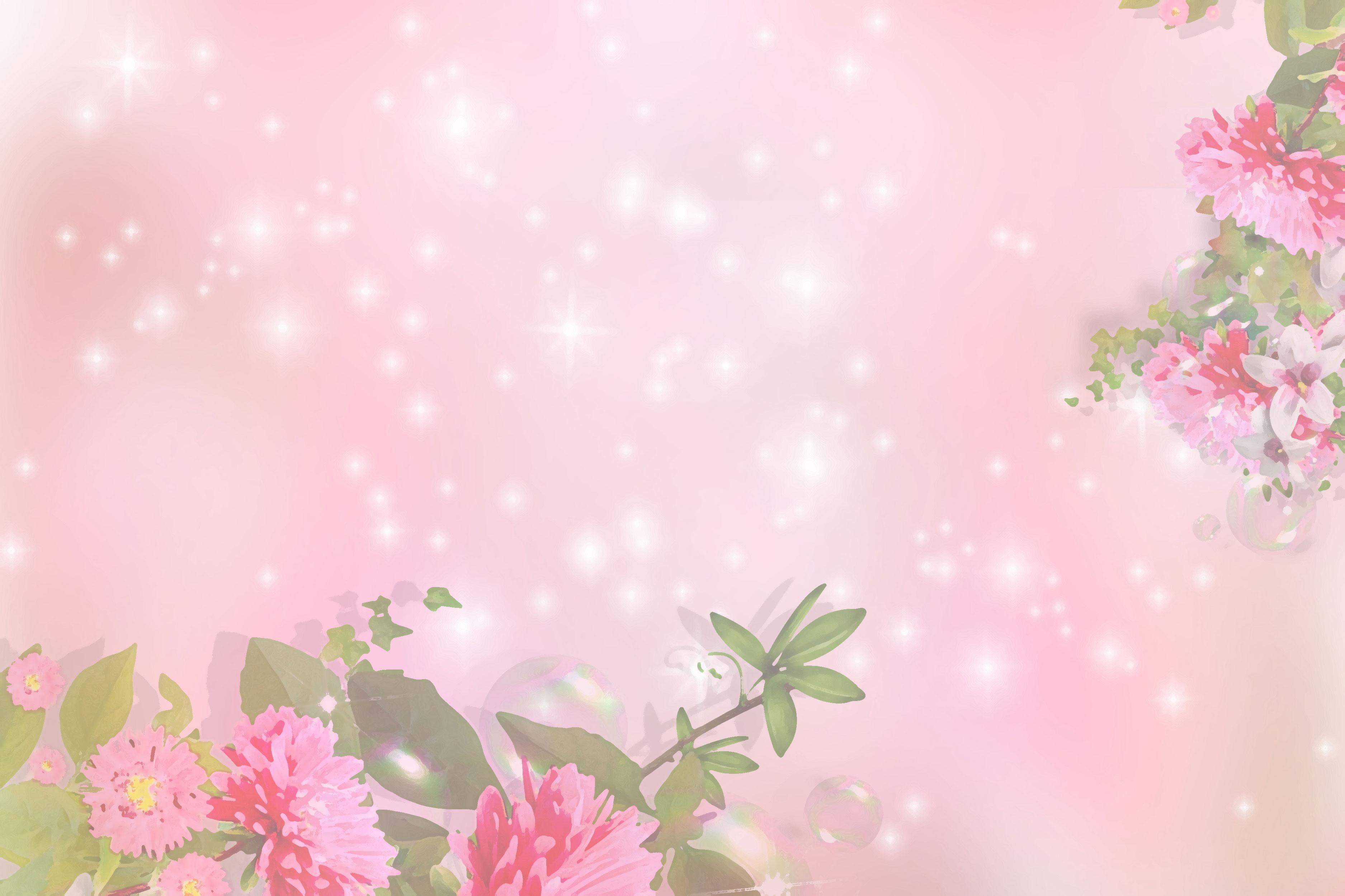 ピンクの花のイラスト フリー素材 壁紙 背景no 720 ピンク 光輝く