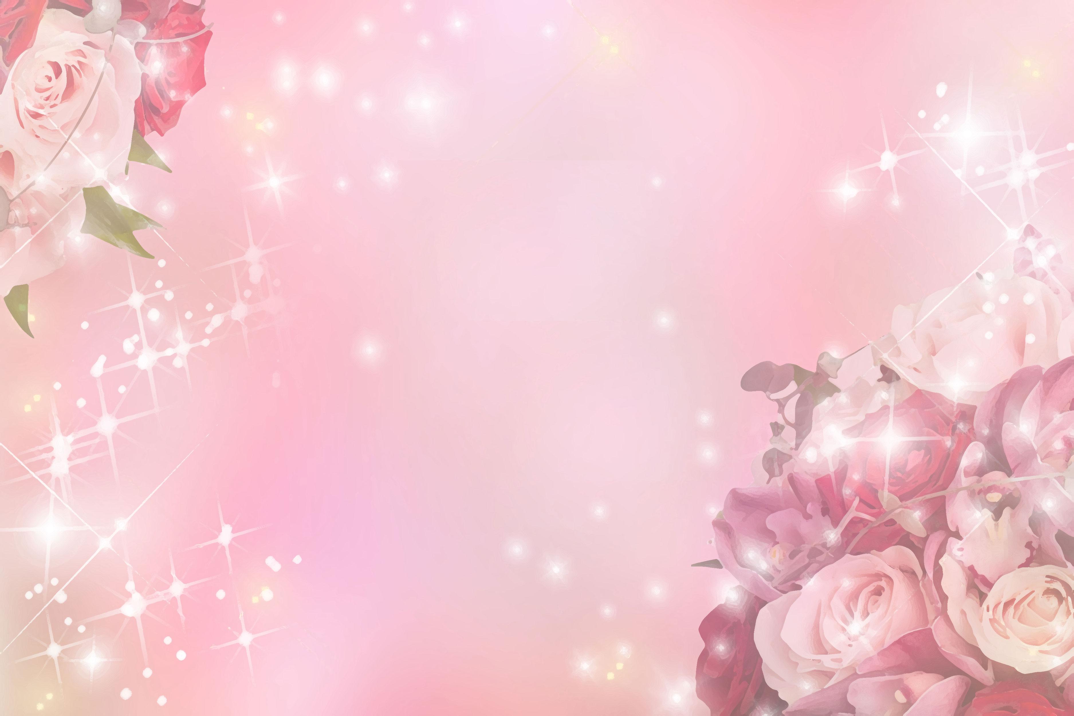バラの画像 イラスト 壁紙 背景用 No 717 バラ ピンク 光輝く
