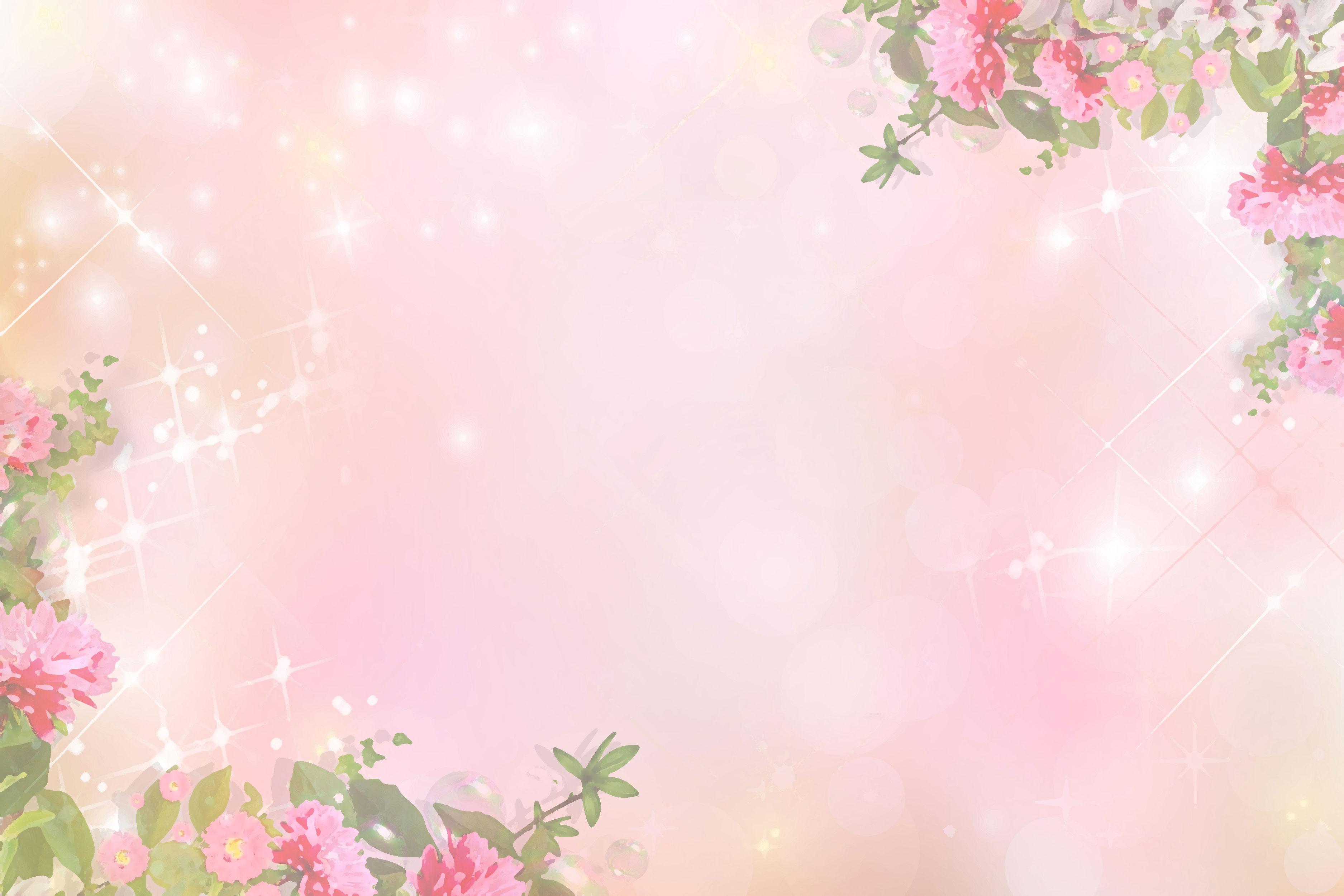 花のイラスト・フリー素材/壁紙・背景no.075『ピンク・光輝く』