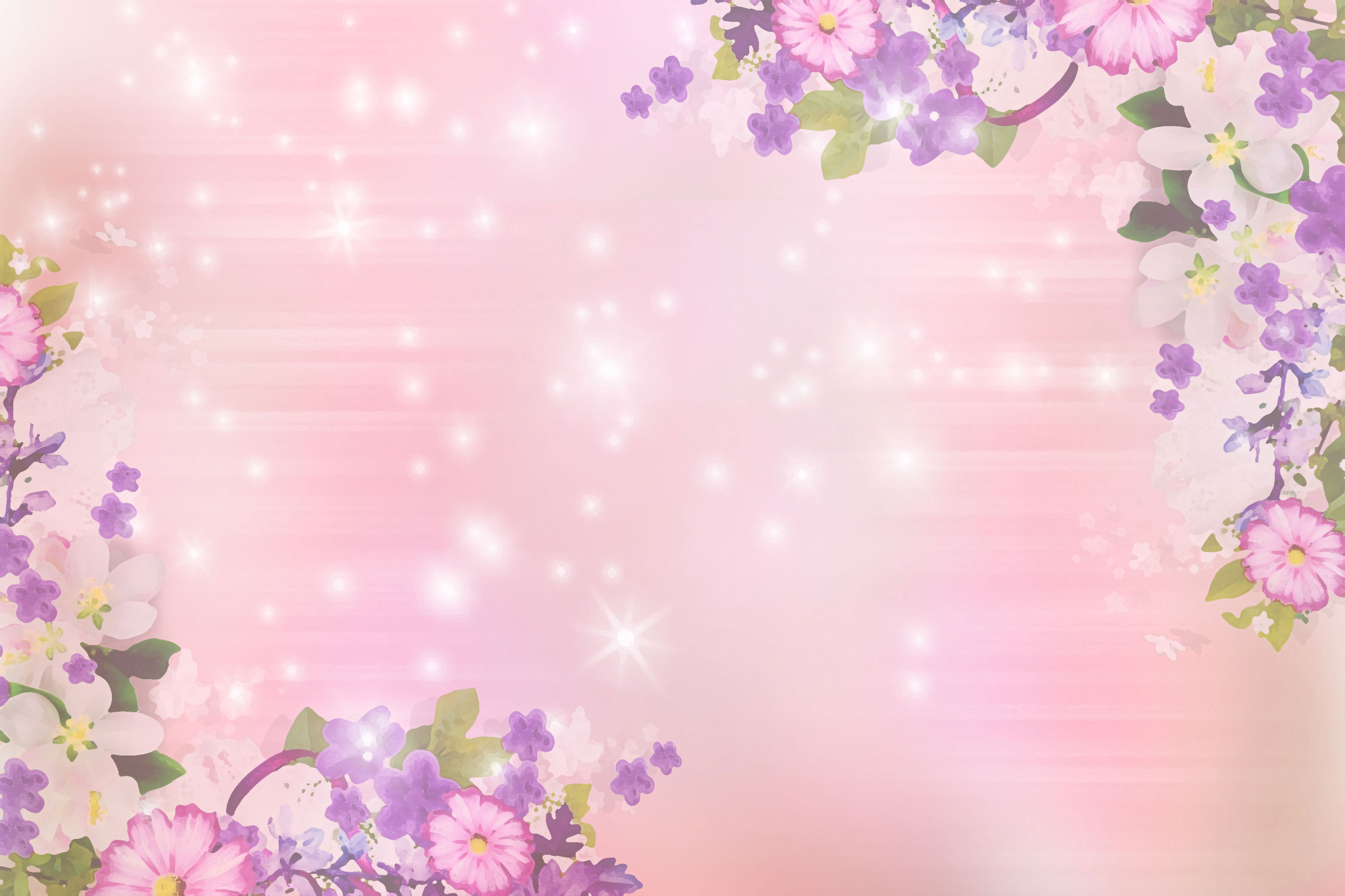 花のイラスト フリー素材 壁紙 背景no 082 フラワーコーナー
