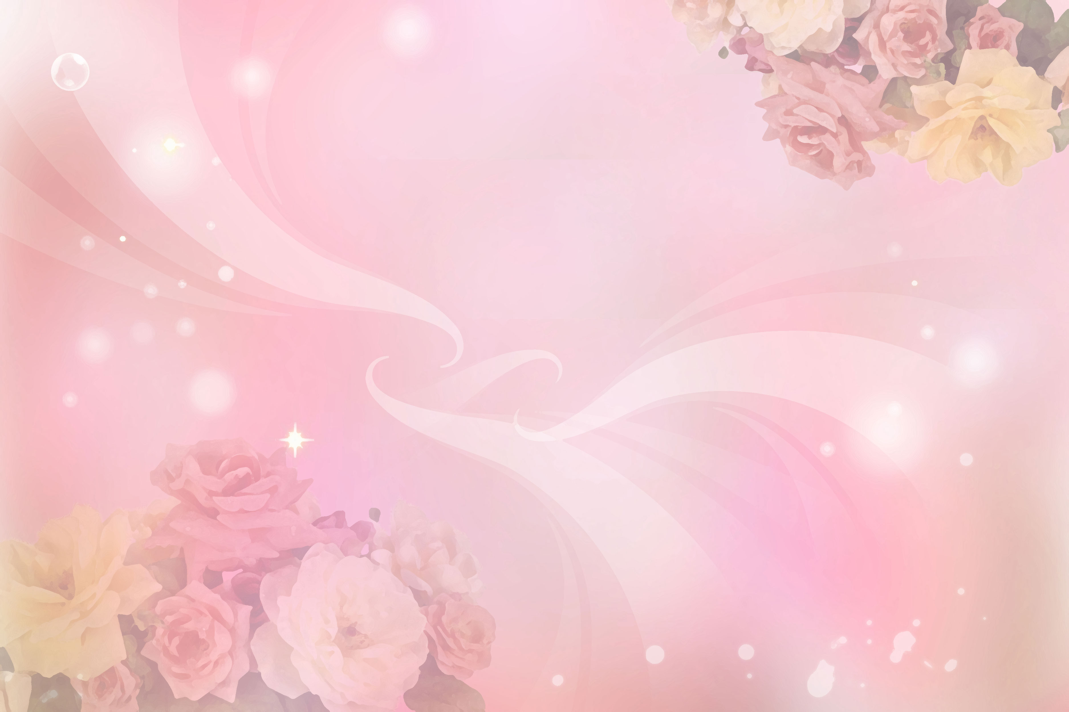 花のイラスト・フリー素材/壁紙・背景no.087『カラフルなバラ』