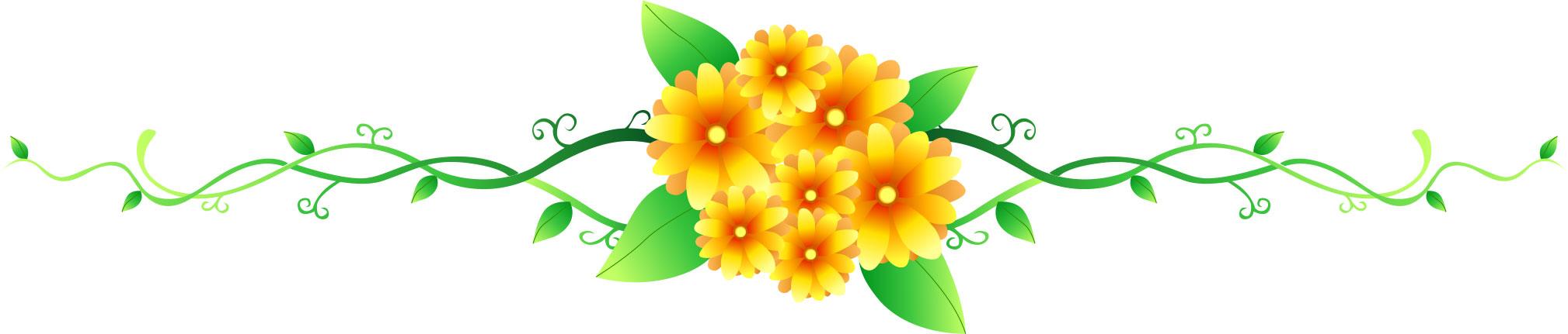 画像サンプル-花のライン・黄色