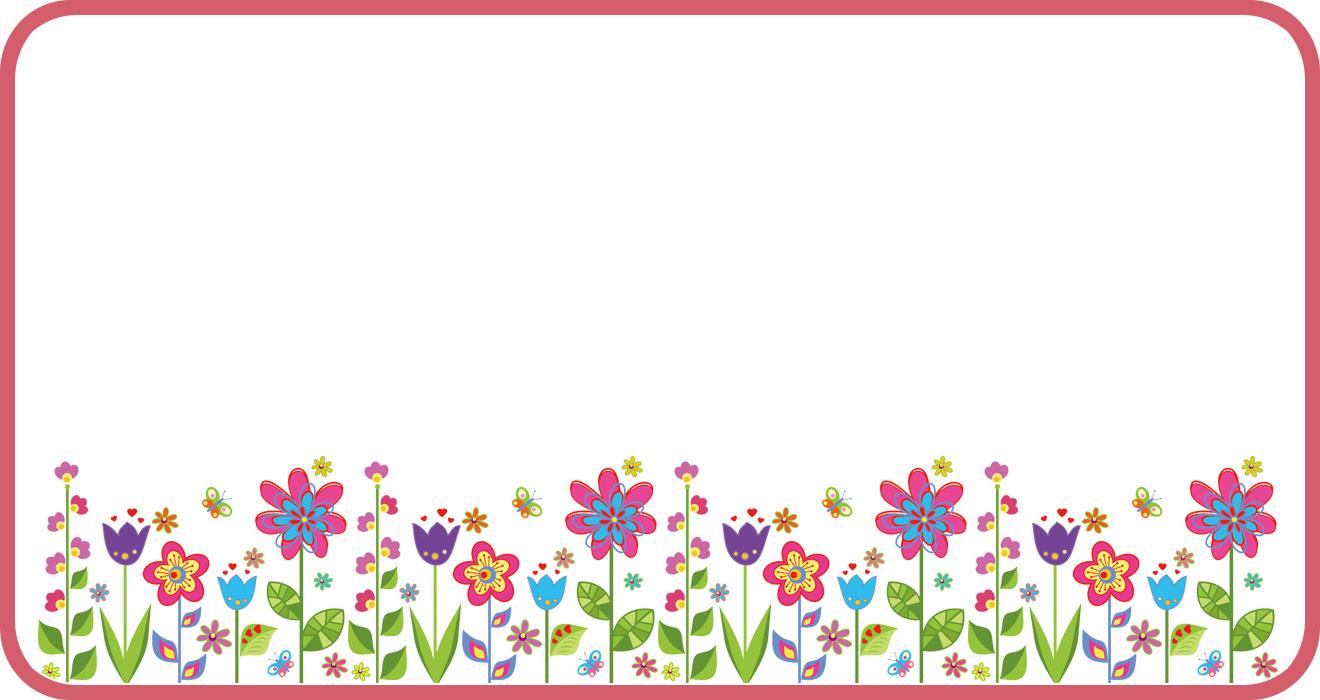 花のフレームのイラスト・画像No.074『ポップ ... : 幼稚園 素材 : すべての講義