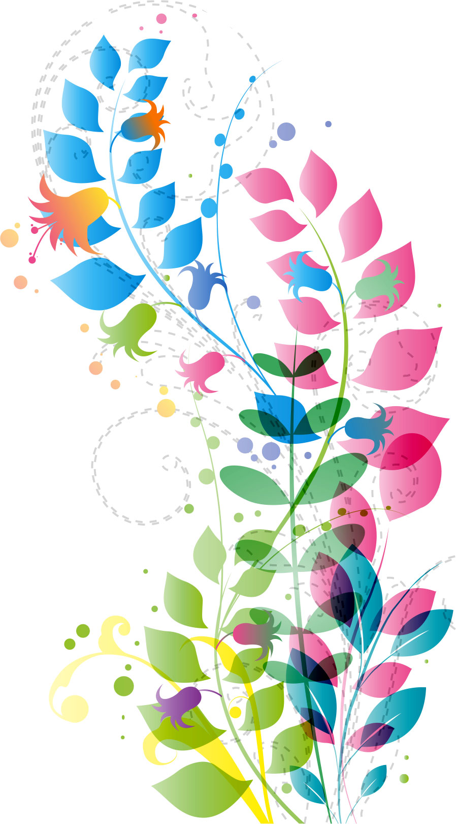 画像サンプル-カラフルな花・クール