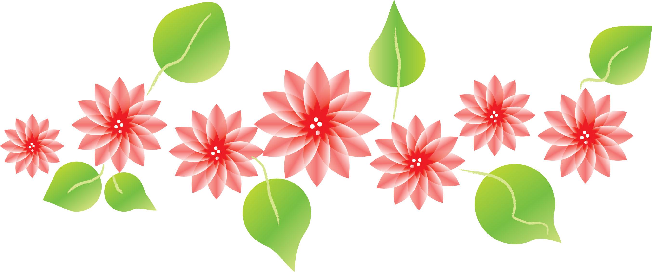 花のイラスト・フリー素材/フレーム枠no.033『ピンクフラワー』