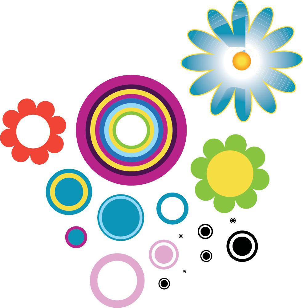 ポップでかわいい花のイラスト・フリー素材/no.206『ポップイラスト6』