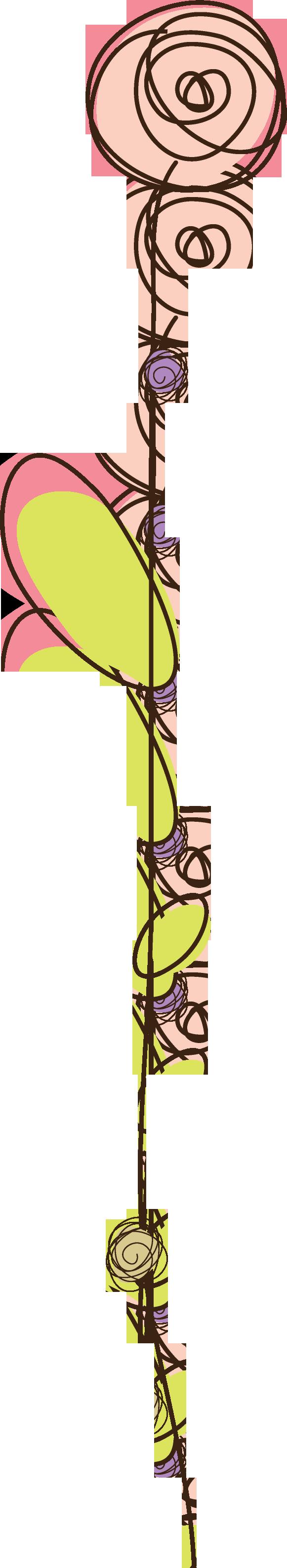 花のイラスト フリー素材 フレーム枠no 376 シンプルフラワーピンク