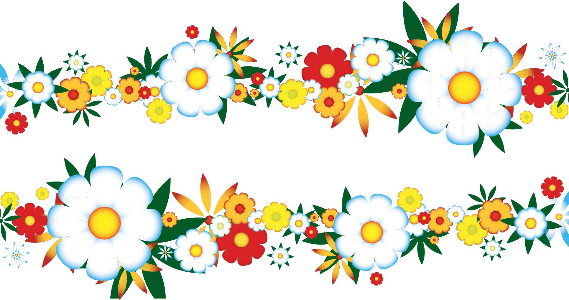 ポップでかわいい花のイラスト・フリー素材/No.966『カラフル