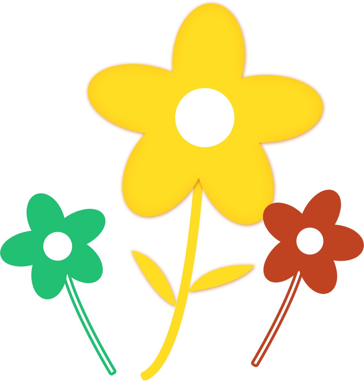 ポップでかわいい花のイラスト・フリー素材/no.007『ポップな花』
