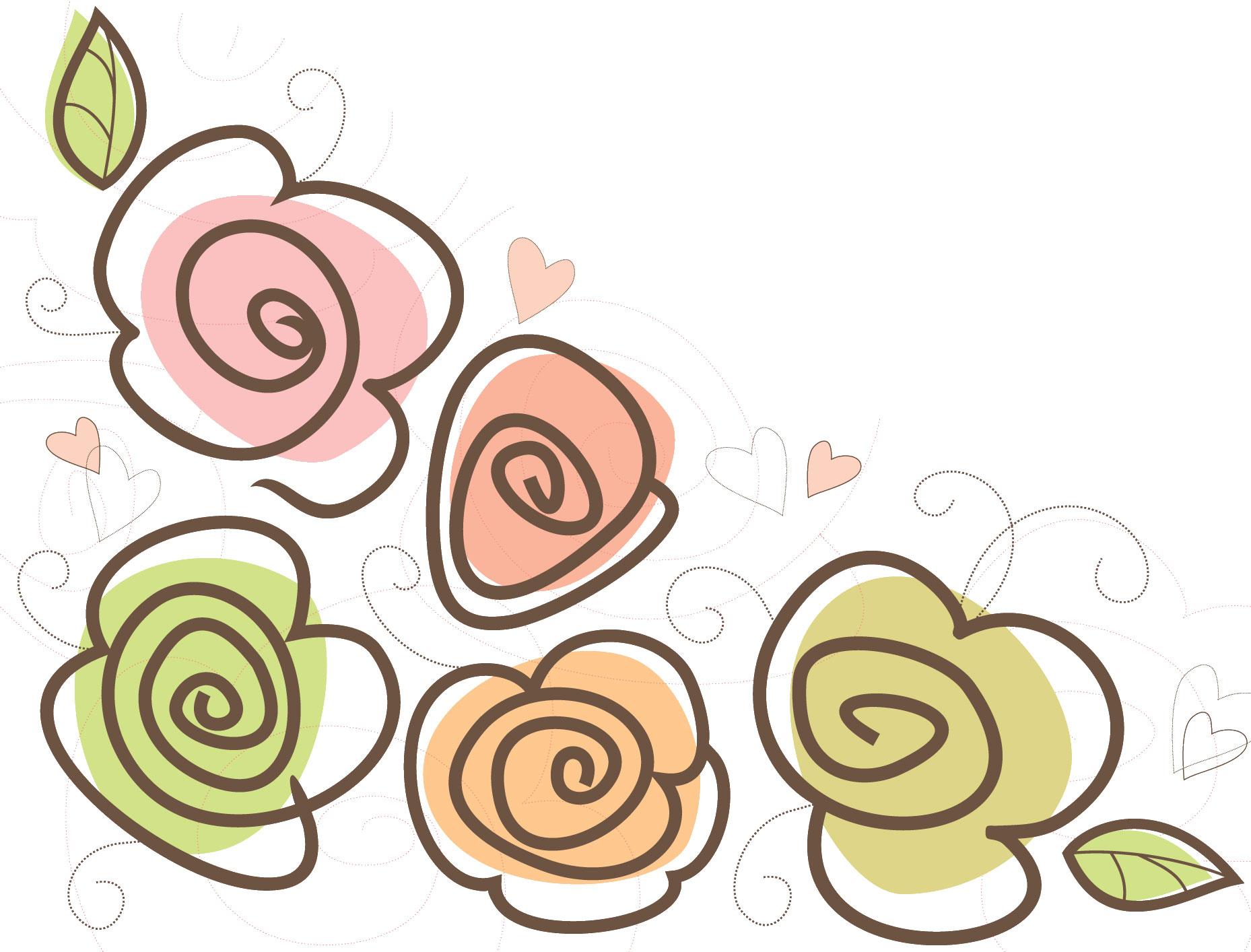 ポップでかわいい花のイラスト・フリー素材/No.025『ハート