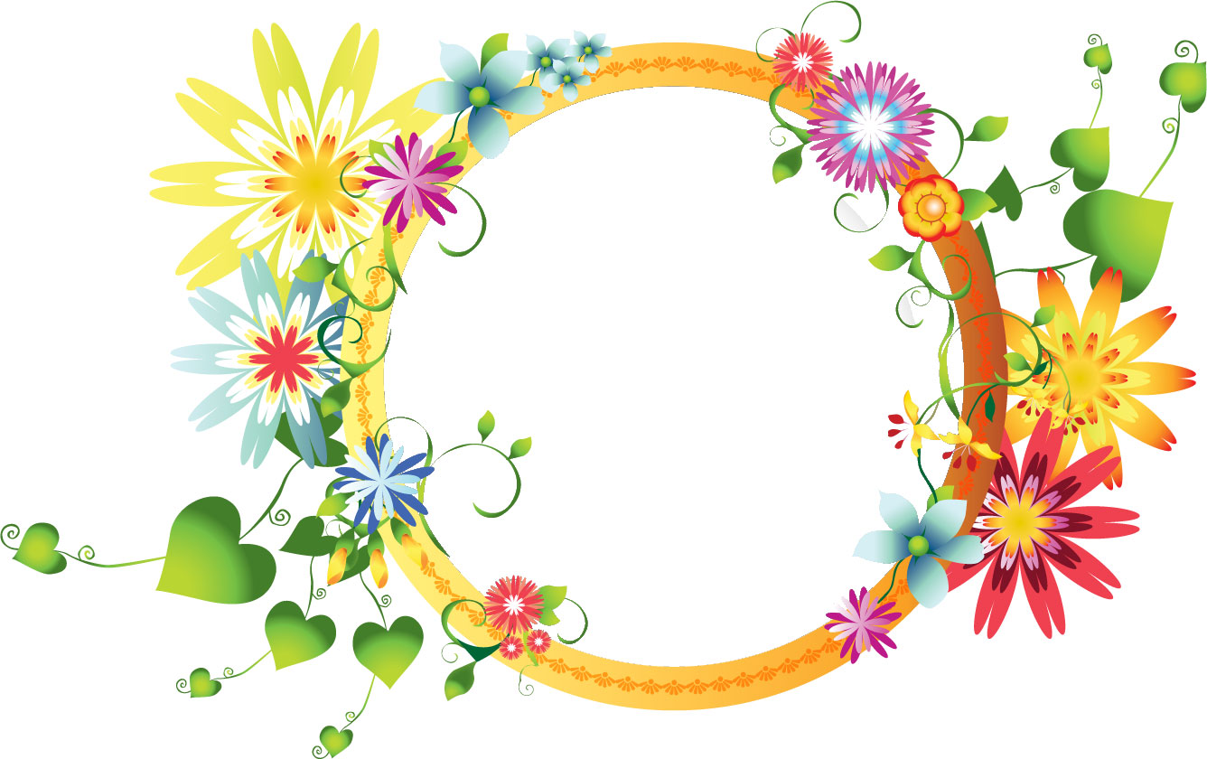 ポップでかわいい花のイラスト ... : 誕生日カード子供向け : カード