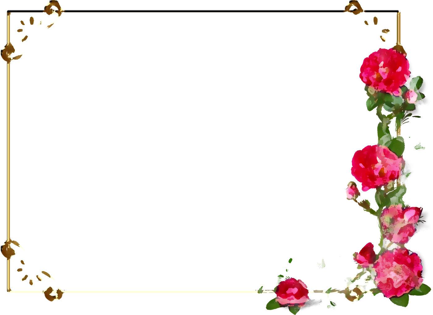 pin 花のフレームイラスト on pinterest