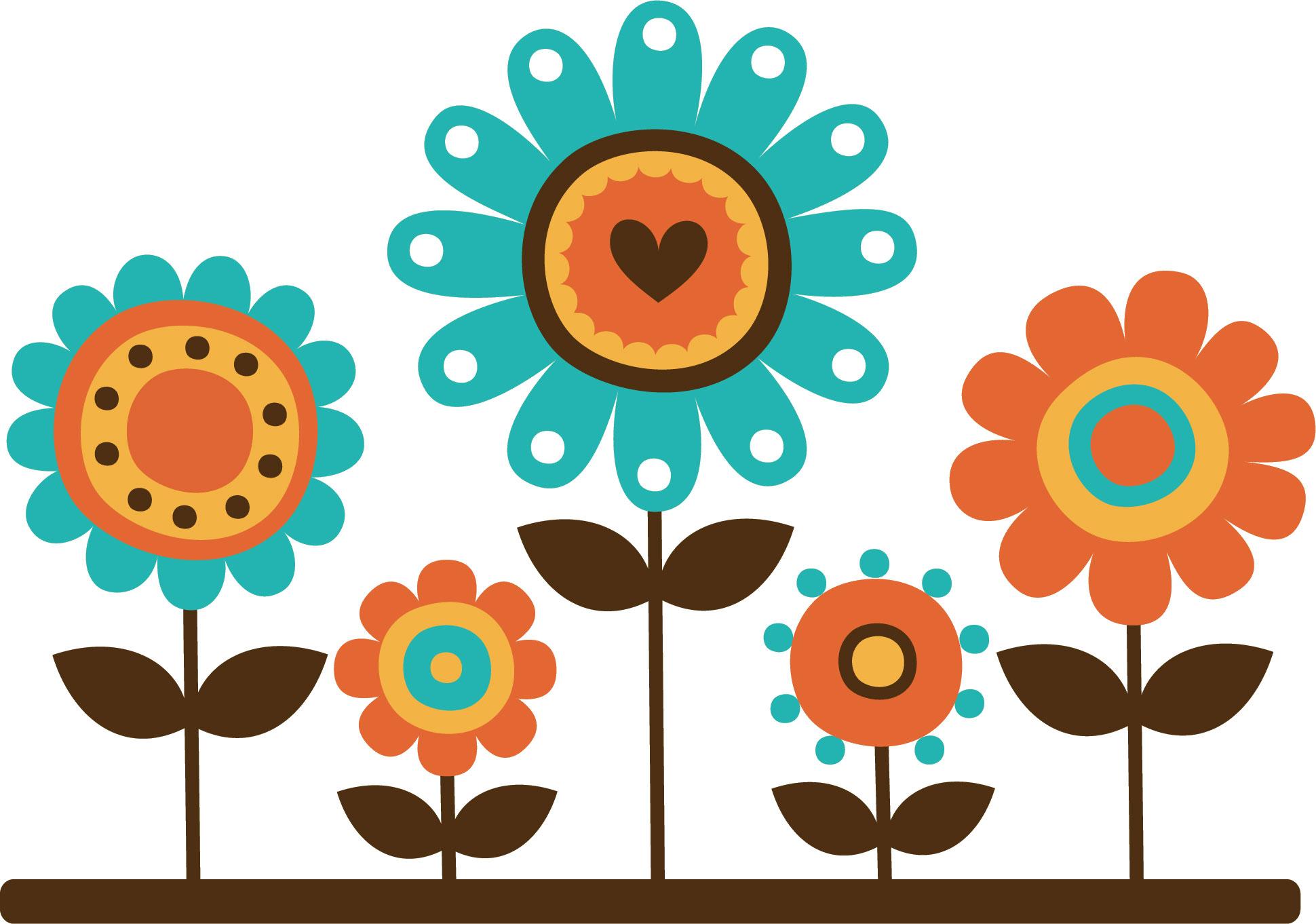 ポップでかわいい花のイラスト・フリー素材/no.160『背比べ・ハートver2』