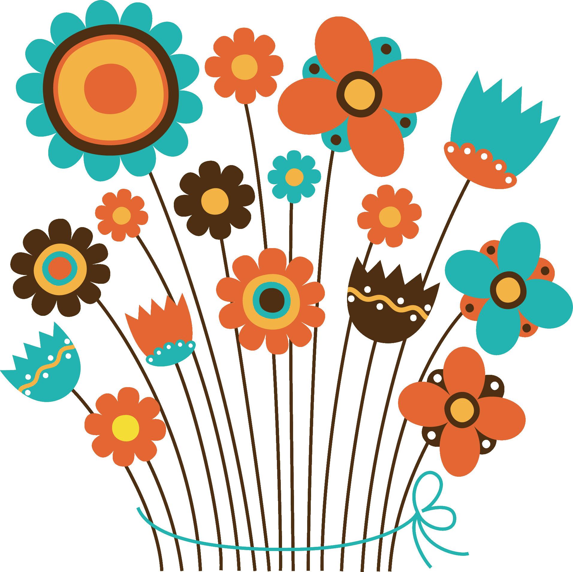 花のイラスト『花束』/無料のフリー素材集【百花繚乱】