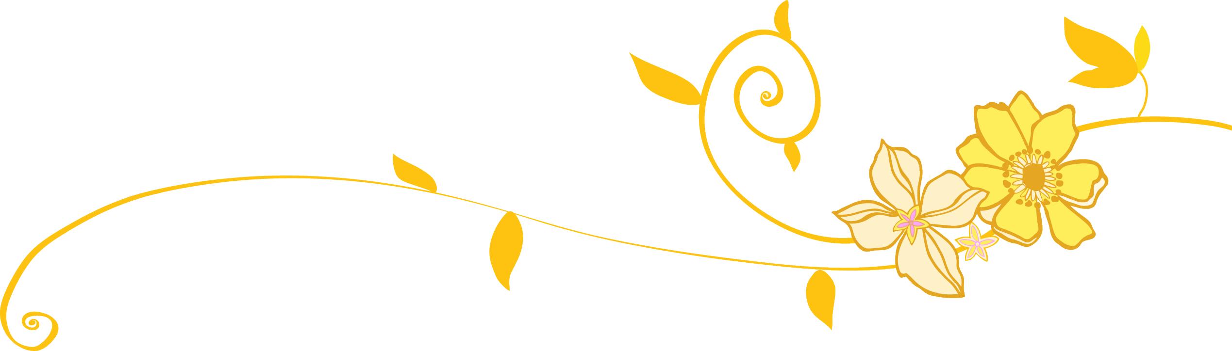 リンク:次の花ラインのイラスト画像 花のイラスト・フリー素材 『ライン線・ボーダー線』 花のイラ