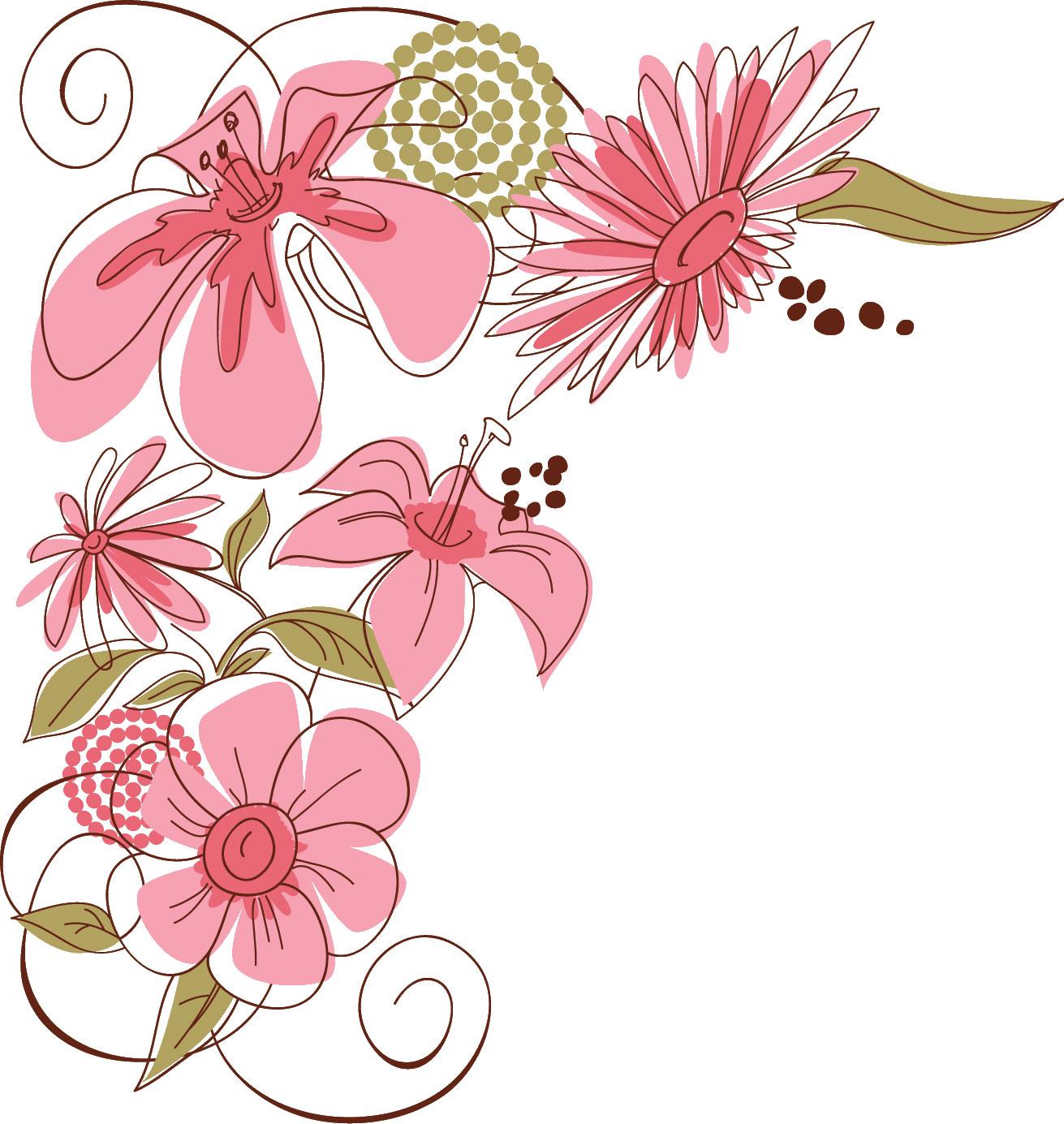 ポップでかわいい花のイラストフリー素材no175ユリポップフラワー