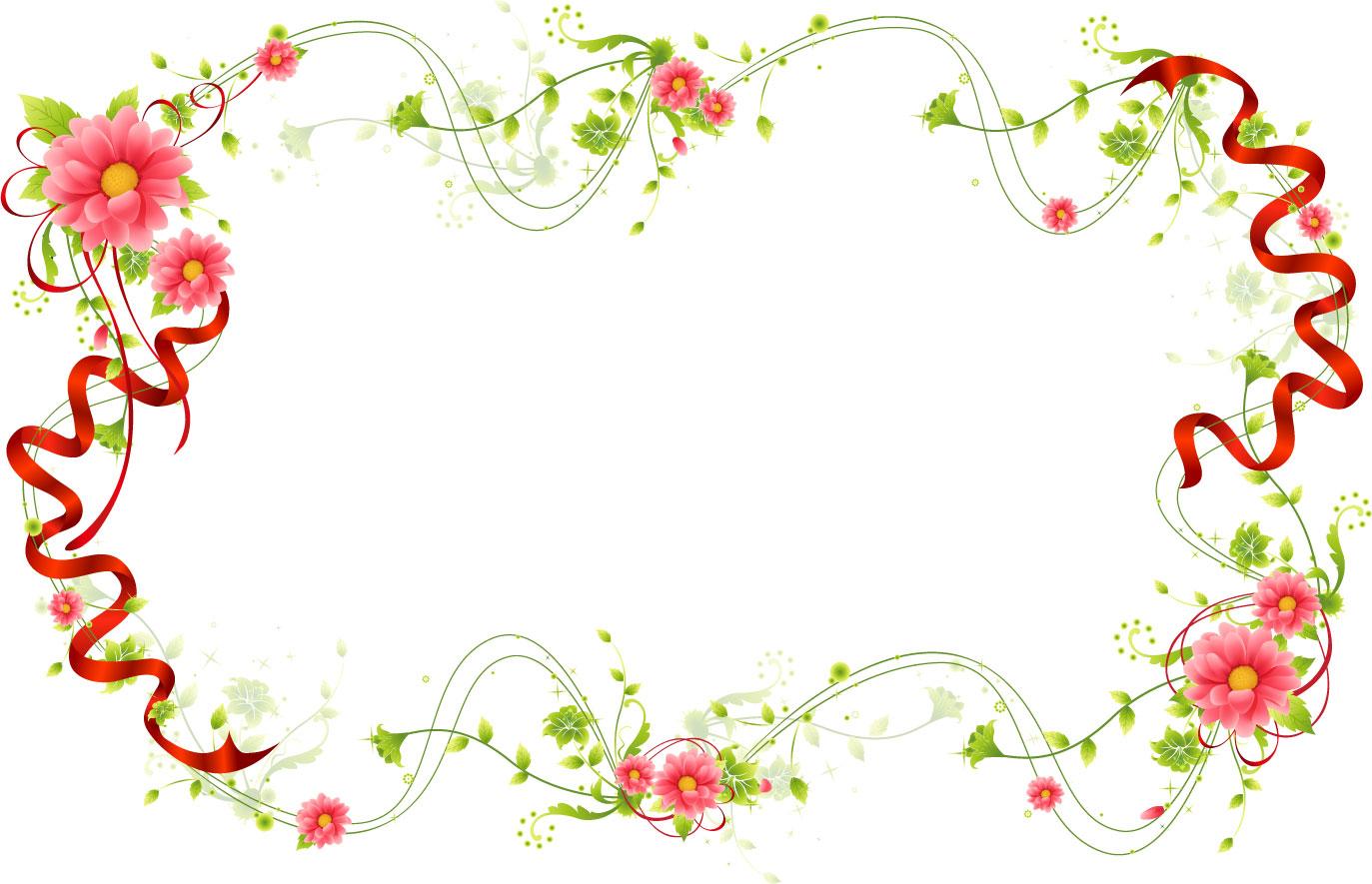 花のイラスト・フリー素材/フレーム枠no.474『手作りの草花』