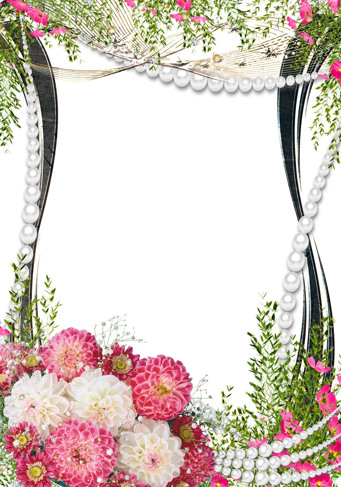 イラスト イラスト枠 無料 ダウンロード : 花のフレーム写真 - サンプル