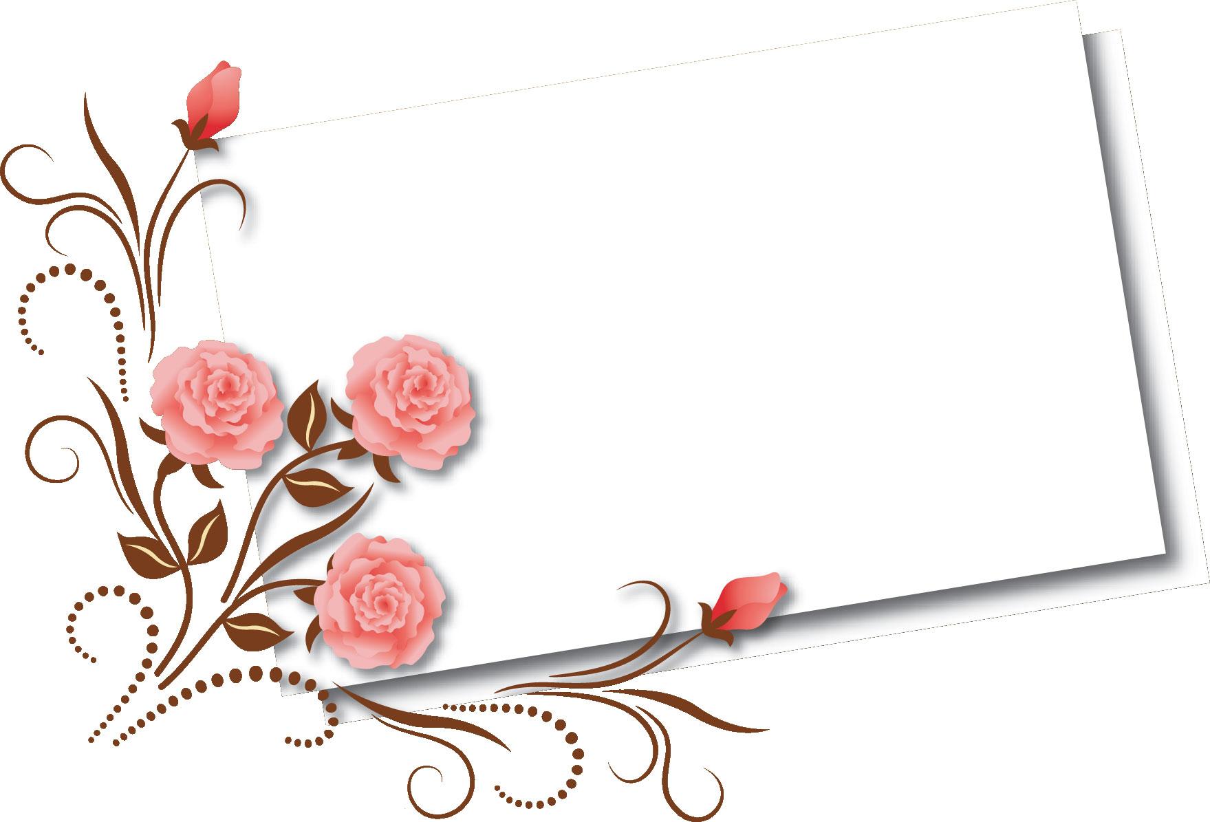 花のイラスト・フリー素材 ... : カード 素材 フリー : カード