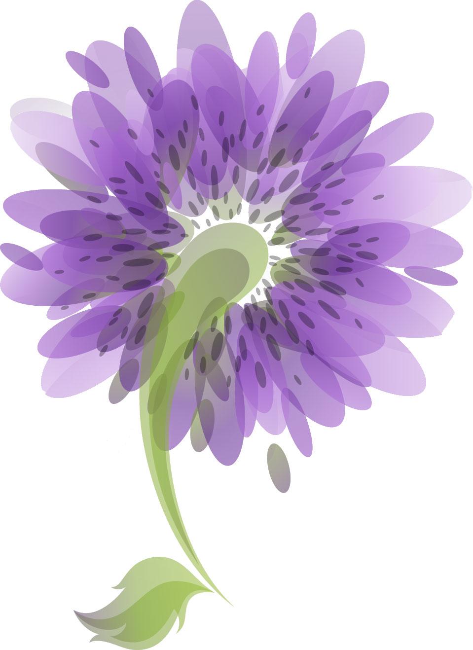 青い花のイラスト-青紫・斑点 青い花のイラスト・フリー素材/No.089『青紫・斑点』 花のイラ