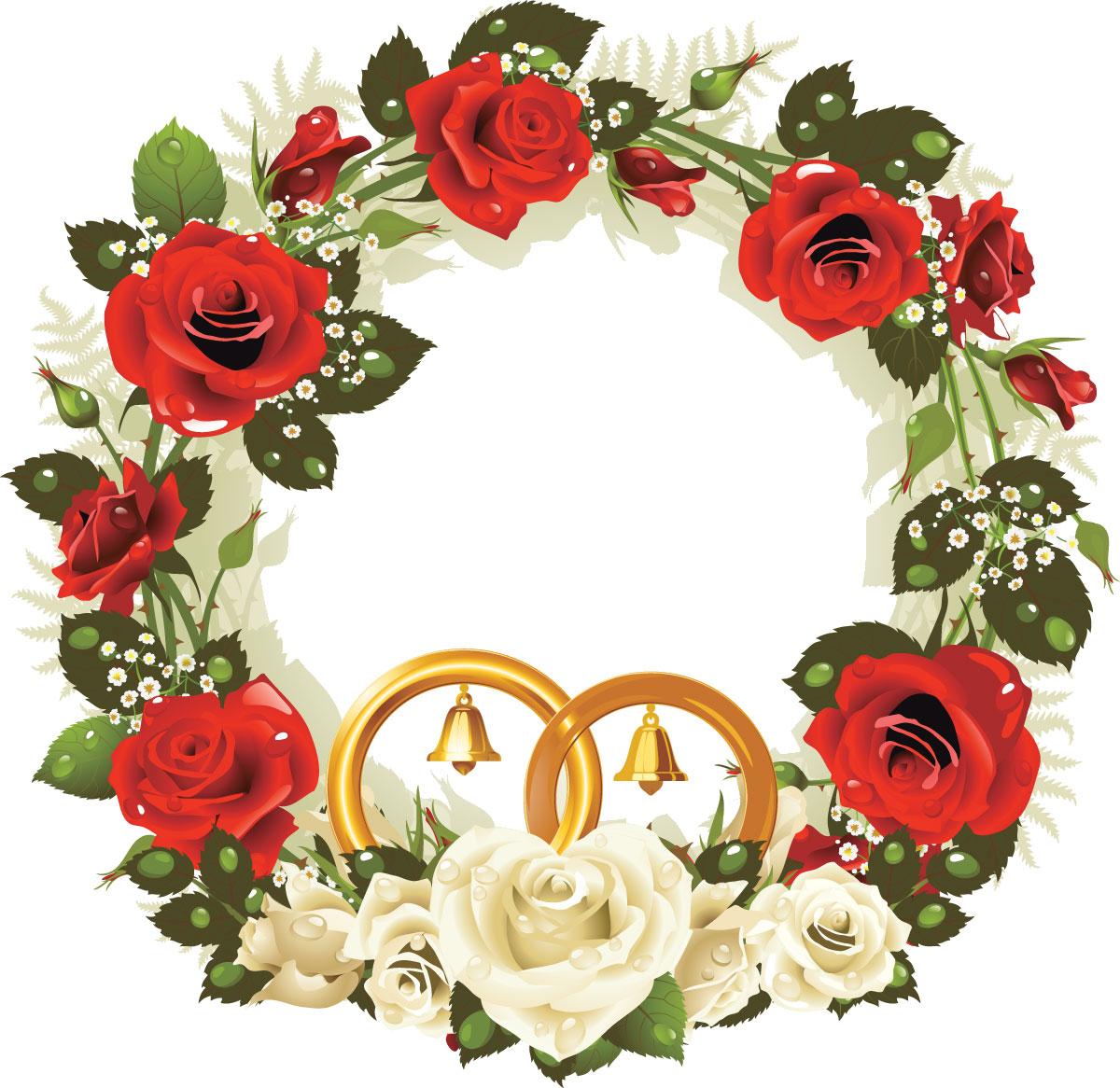 ポップでかわいい花のイラストフリー素材no1046赤白バラ
